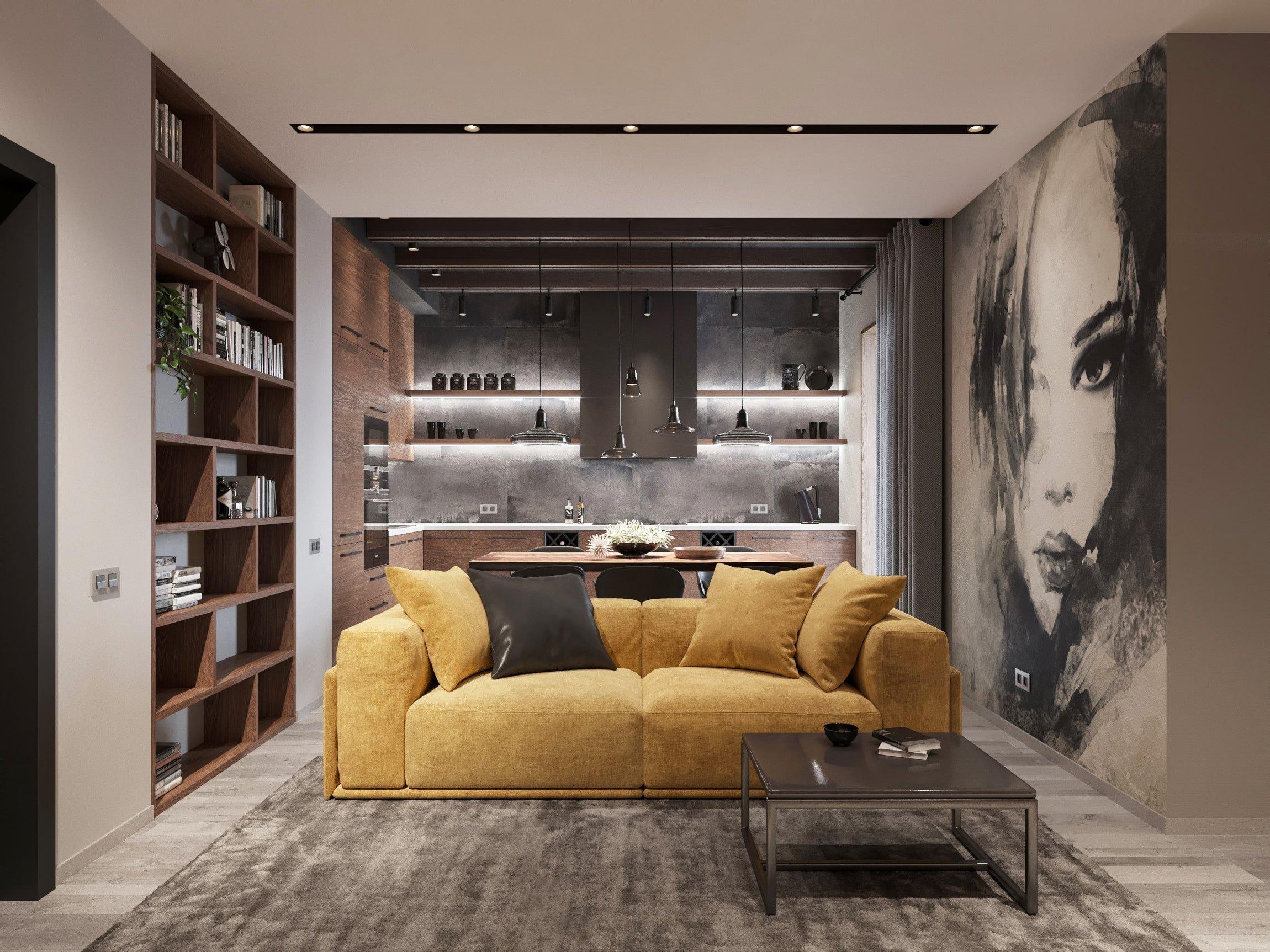 I interiér, který nehýří velkým množstvím barev, může vypadat dokonale. Jen stačí vědět, jaké barvy a jejich kombinace zvolit. Poté už stačí přidat jen akcent v podobě žluté sedačky a krásné a útulné bydlení je na světě.