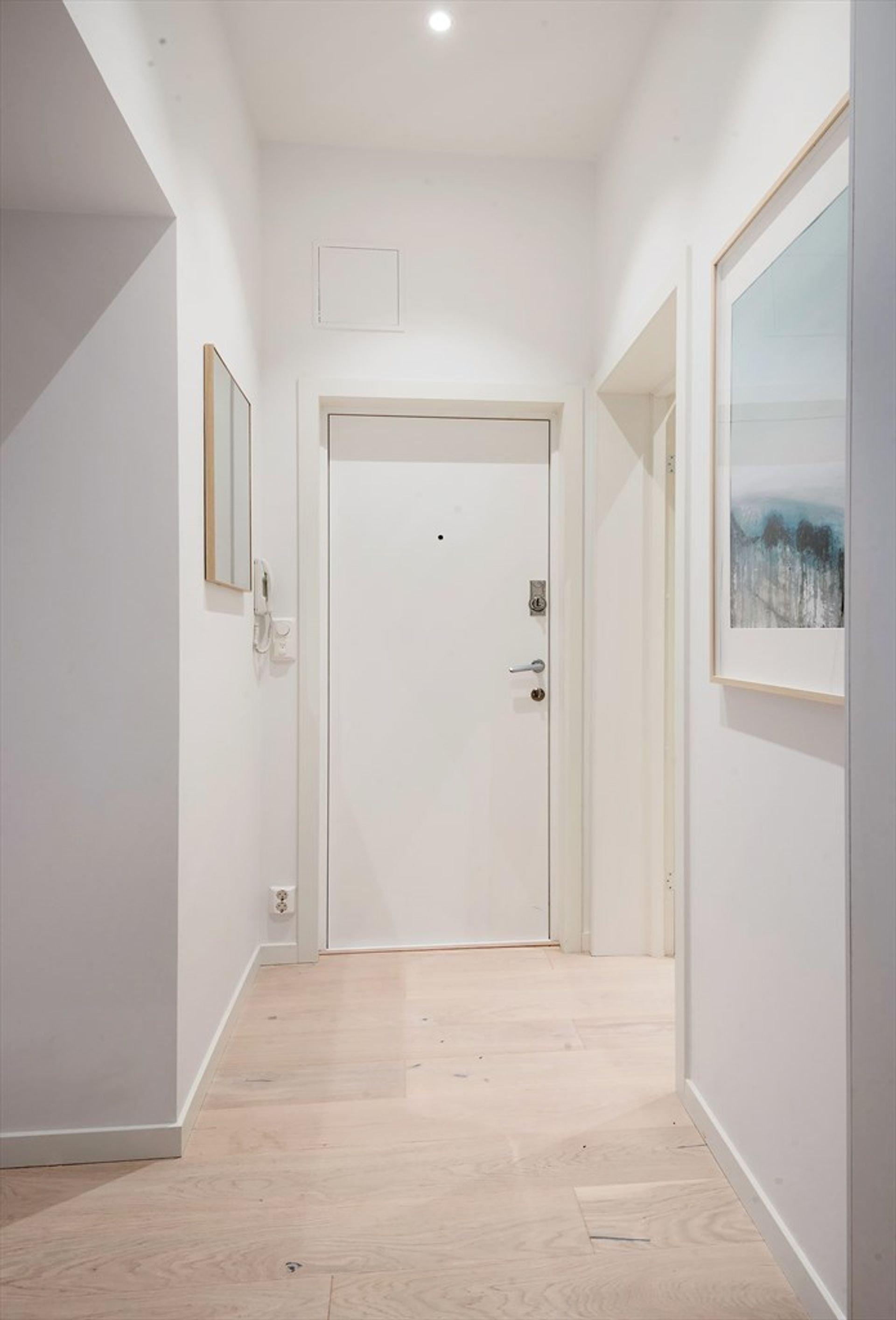 Norský interiér s cihlovou zdí