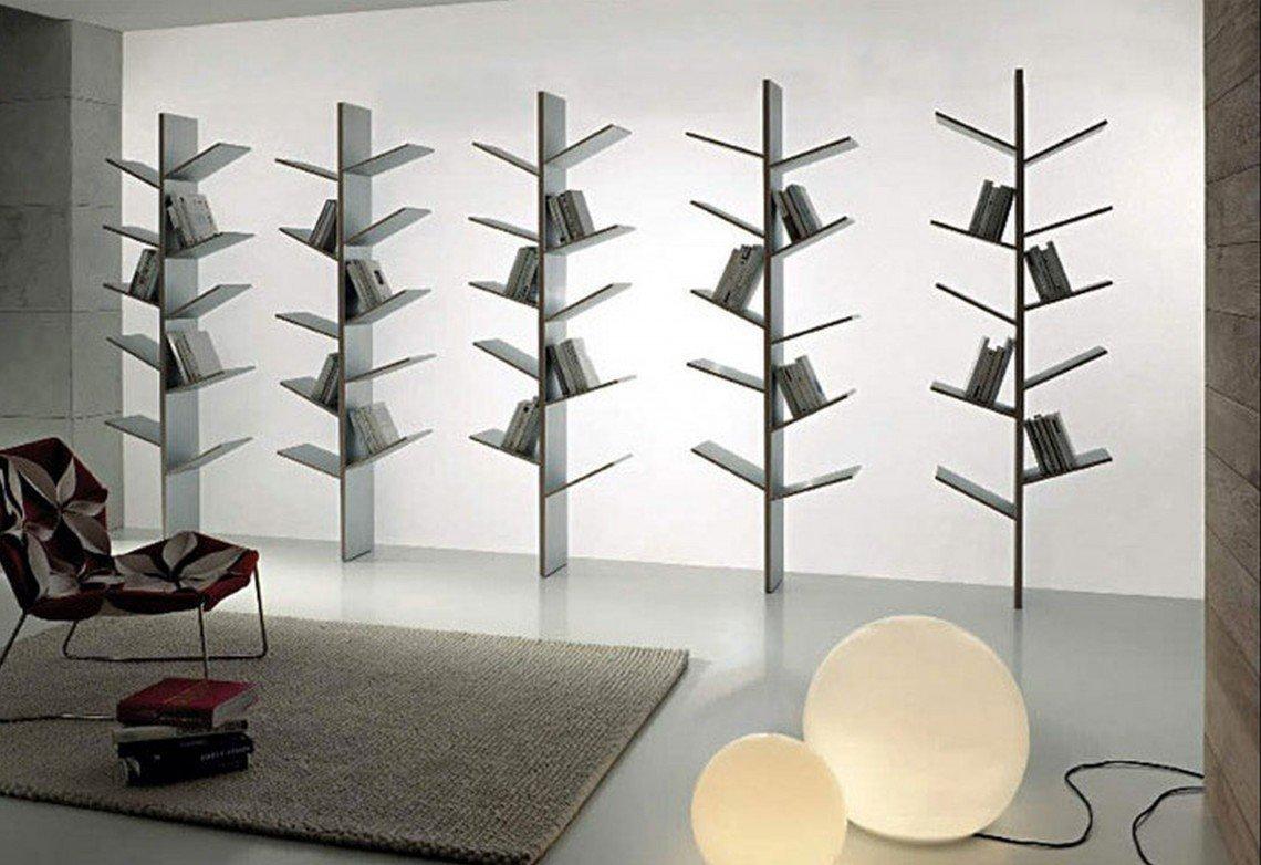 Vzdušná knihovna ve tvaru stromů.