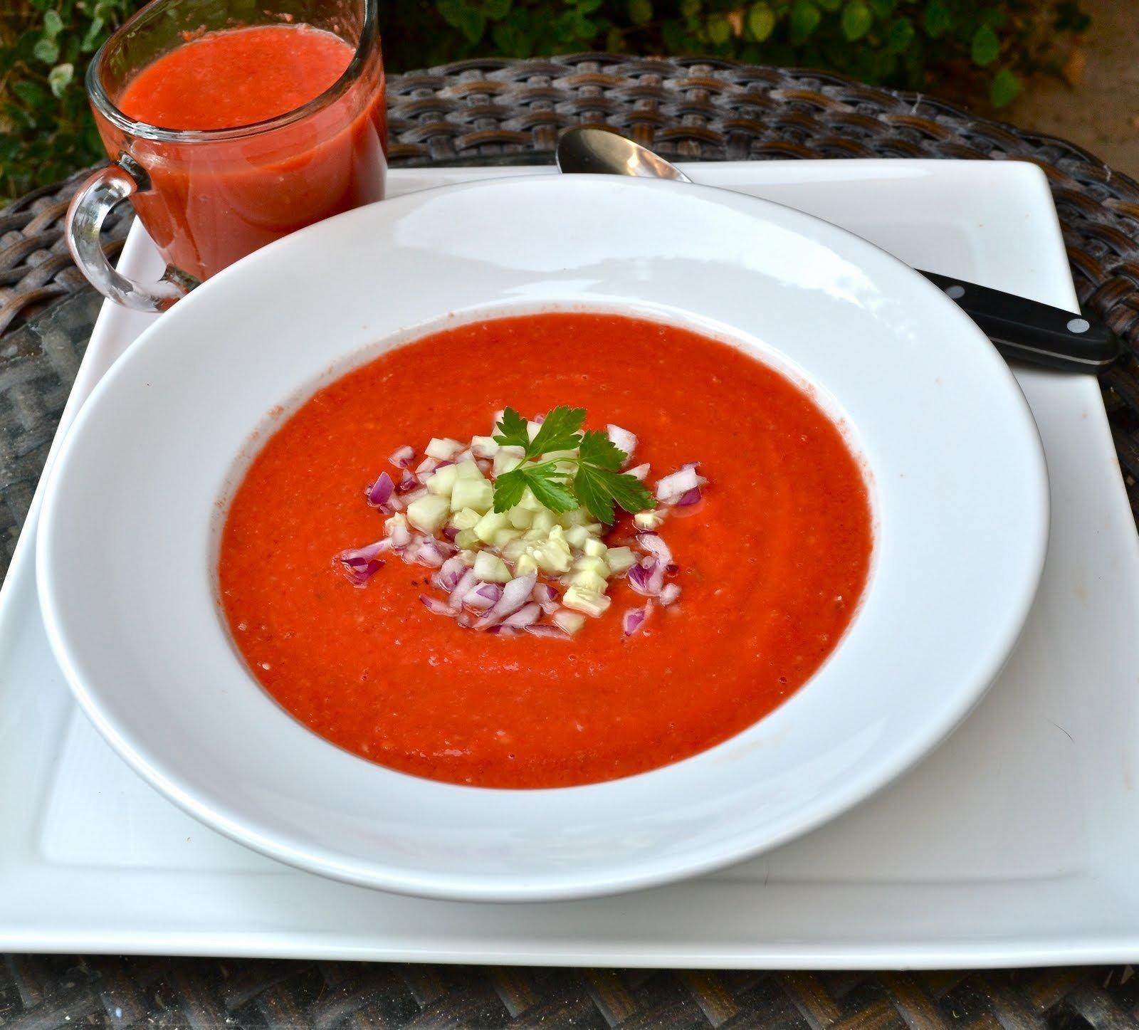 Gazpacho aneb studená polévka za pár minut