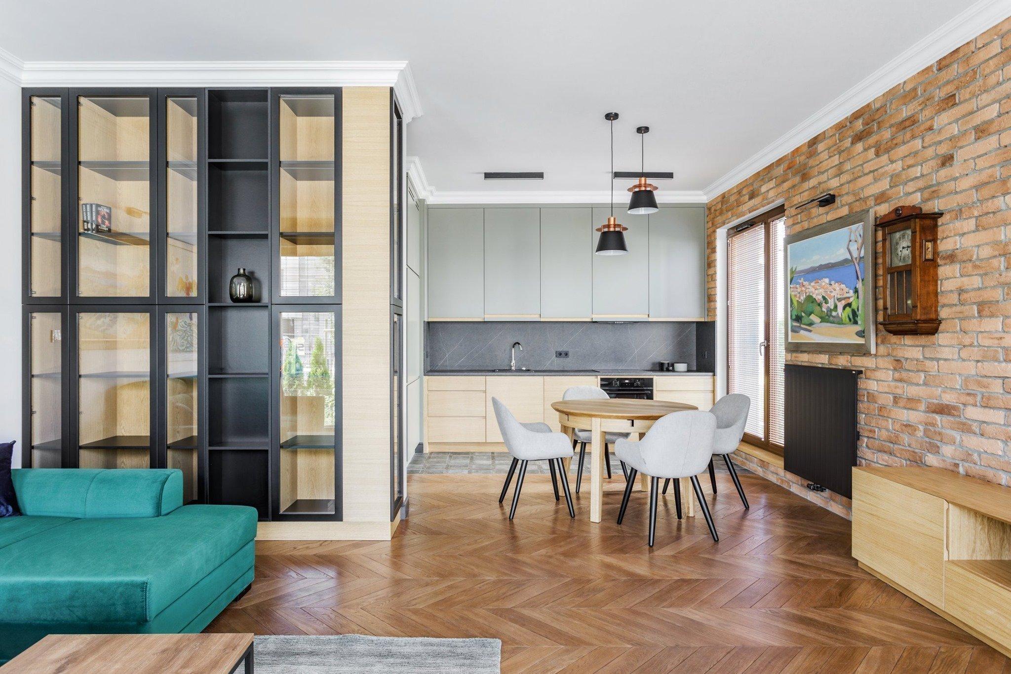 Moderní byt pro muže milujícího umění