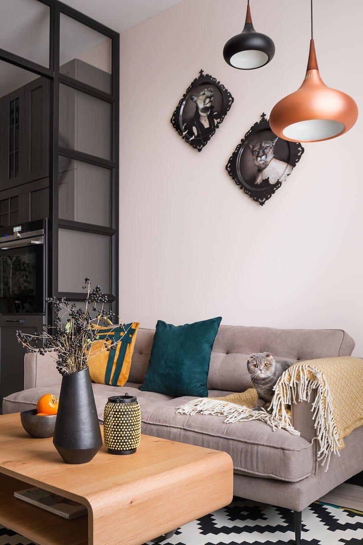 Důmyslně řešený malý byt ve skandinávském stylu