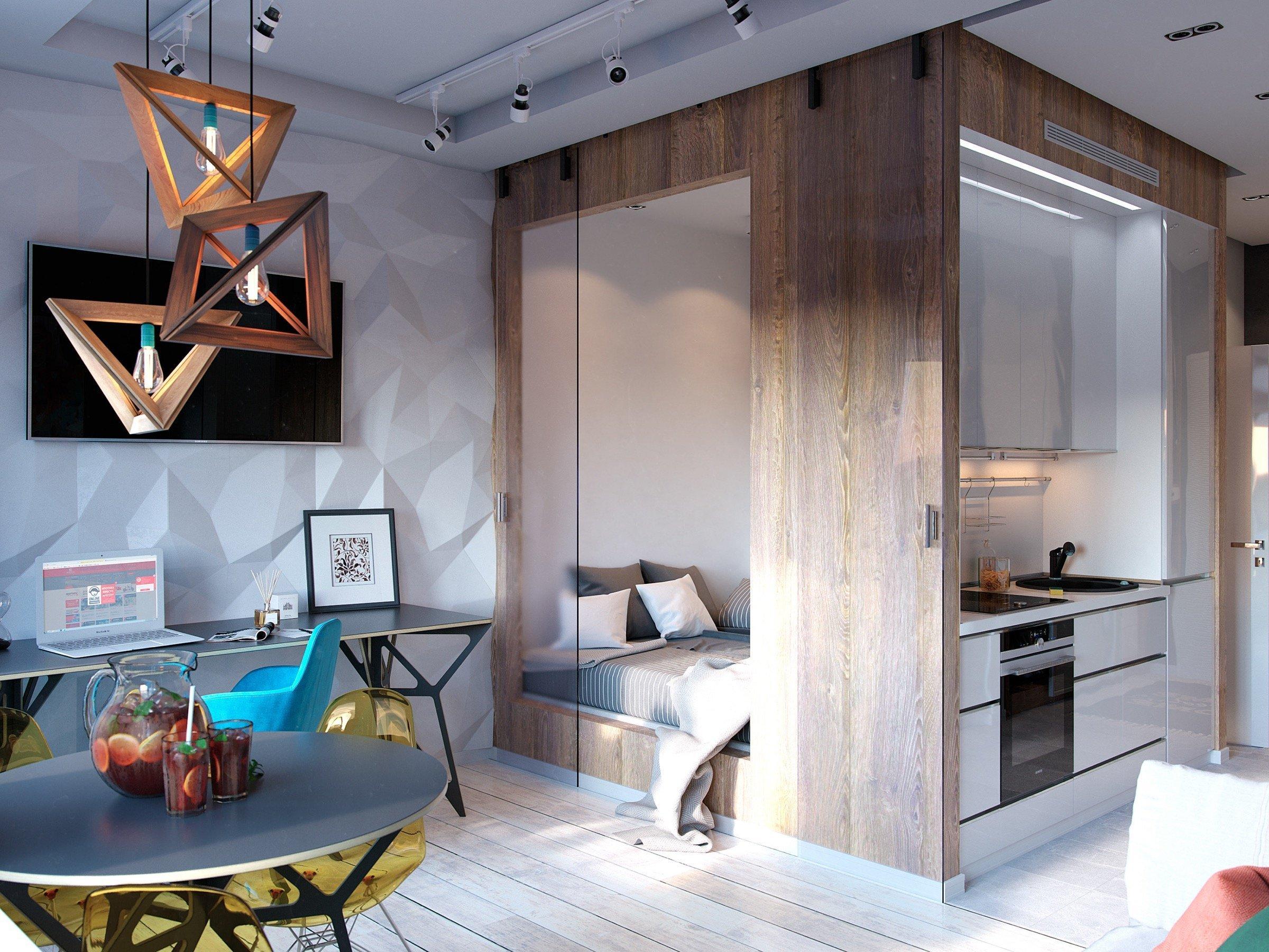 Navštivte spolu s námi invencí nabitý interiér, který si vystačí s plochou 30 m2! Umělecké prvky, zářivé barvy, nápadité tvary, svěží kombinace – to všechno je odrazem bydlení, které v sobě spolehlivě mísí praktičnost i styl.