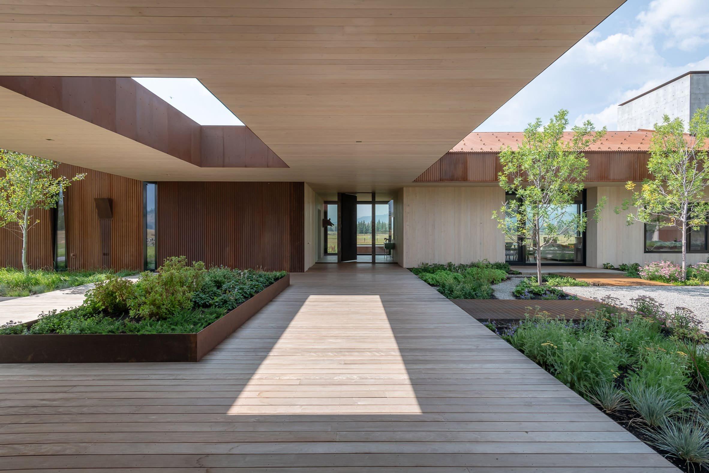 Moderní dům inspirovaný stodolou