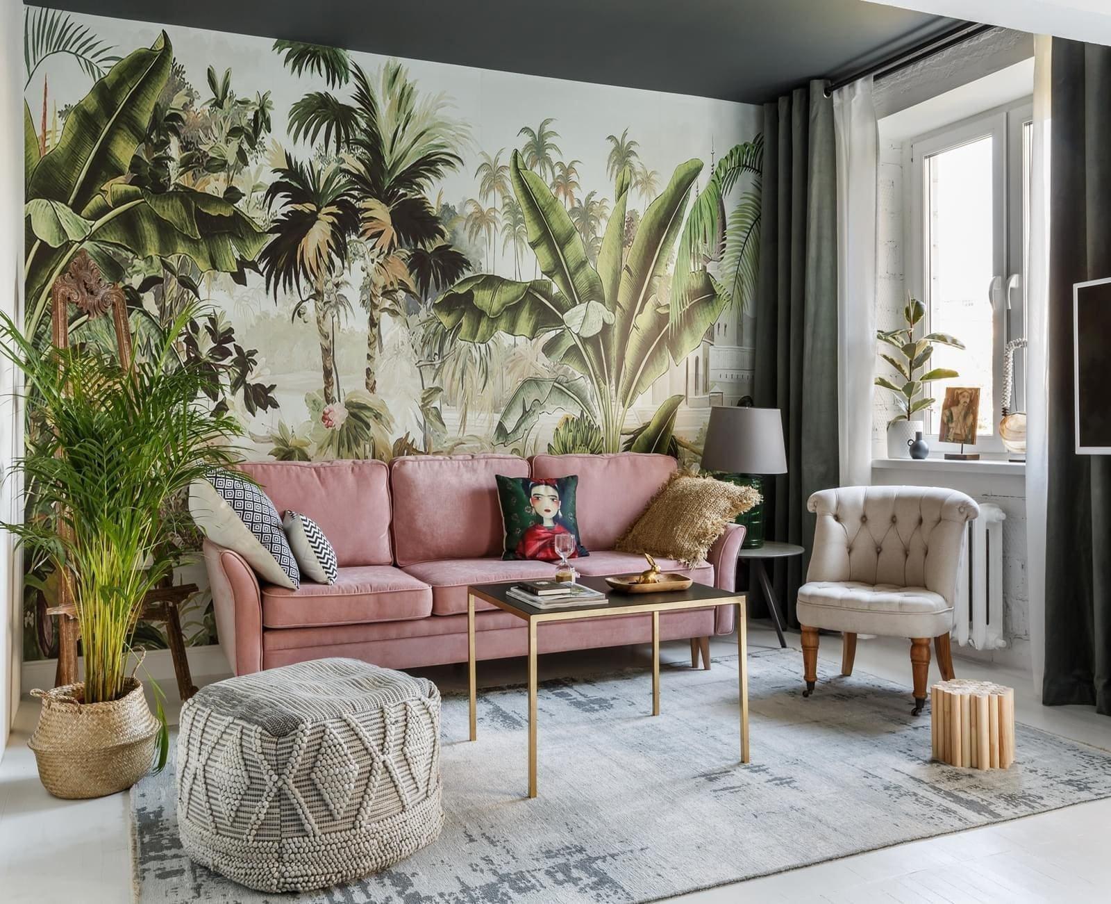Okouzlující interiér v boho, glamour a botanical stylu