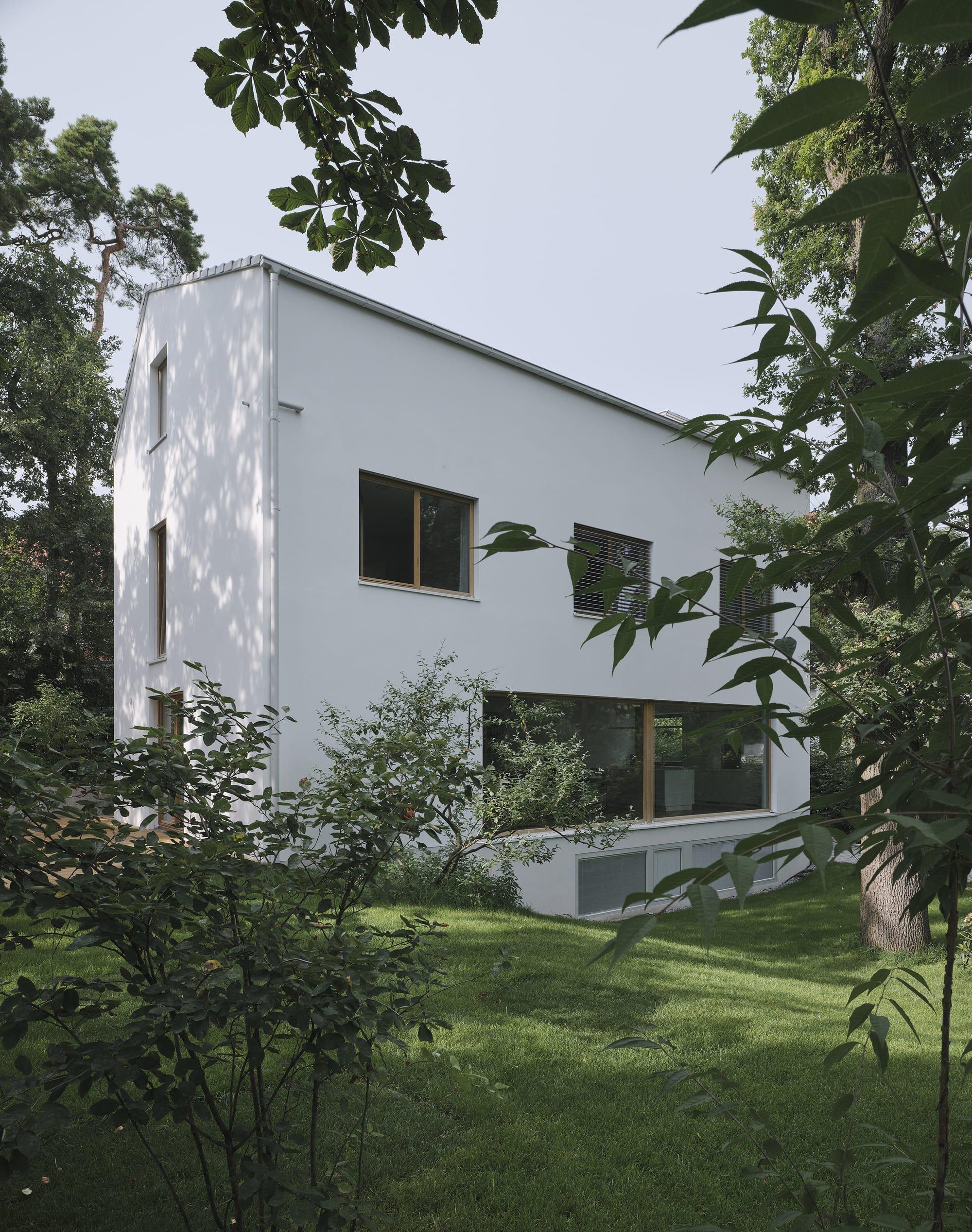 Bílý dům mezi stromy