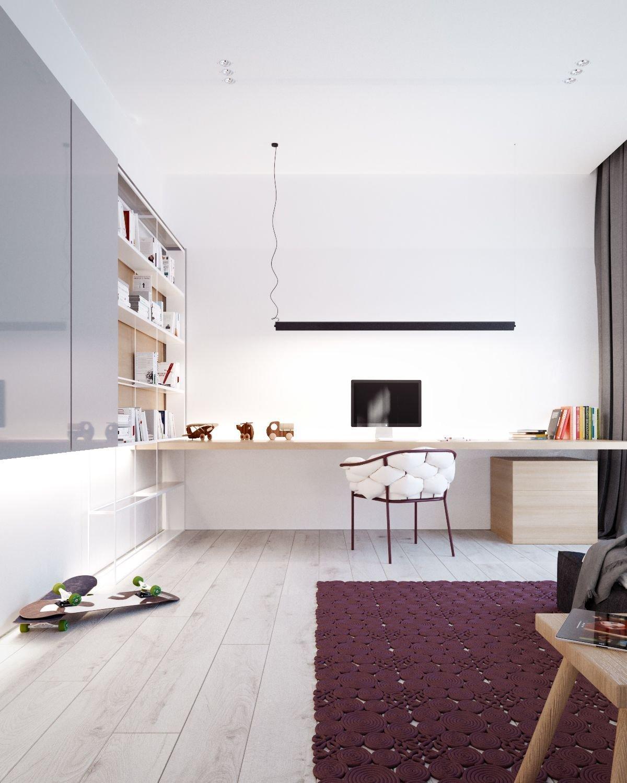 Odhoďte zažité stereotypy a nechte se inspirovat domem, který je ušitý na míru moderní rodině se dvěma dětmi. Individuální řešení každé místnosti je nejen extrémně praktické, ale díky omezené paletě barev a pečlivě vybranému nábytku se dá hovořit o esteticky velmi zdařilém díle.
