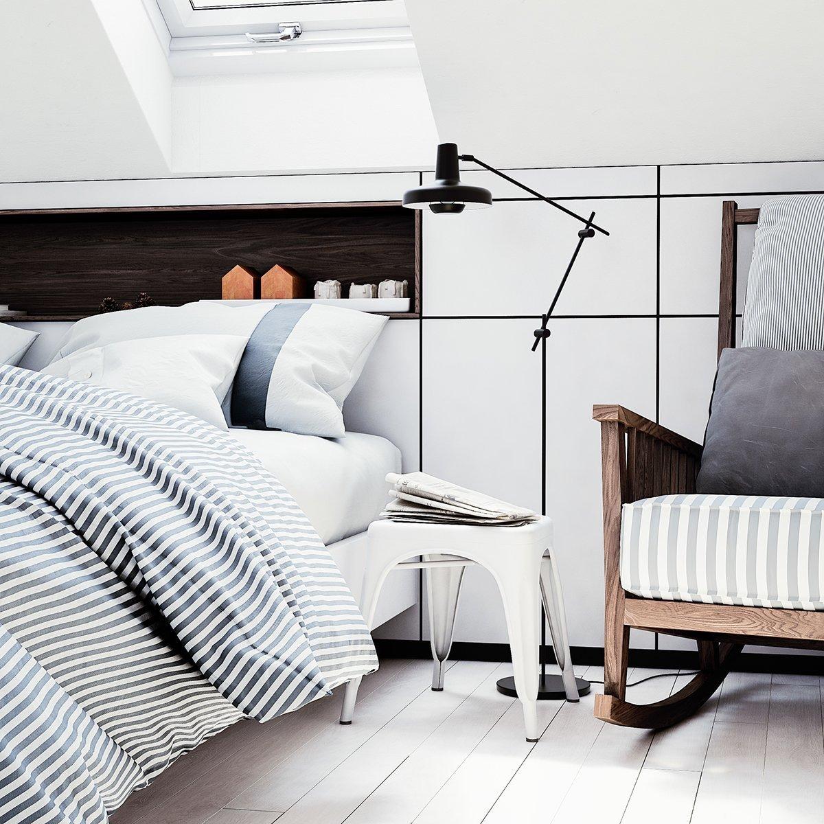 Využitý prostor díky vestavěnému nábytku.