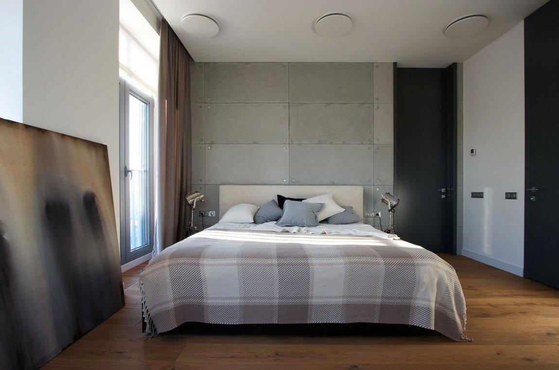 Tlumené barvy jsou pro ložnici ideální.