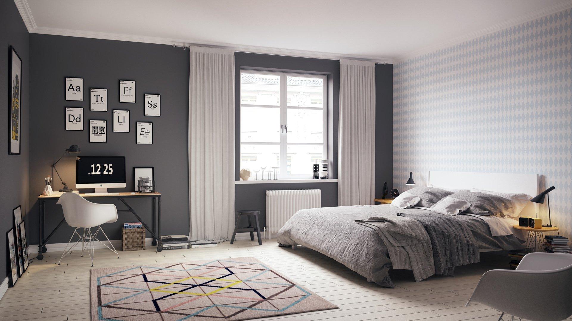 Záclony dokážou pokoj zútulnit.