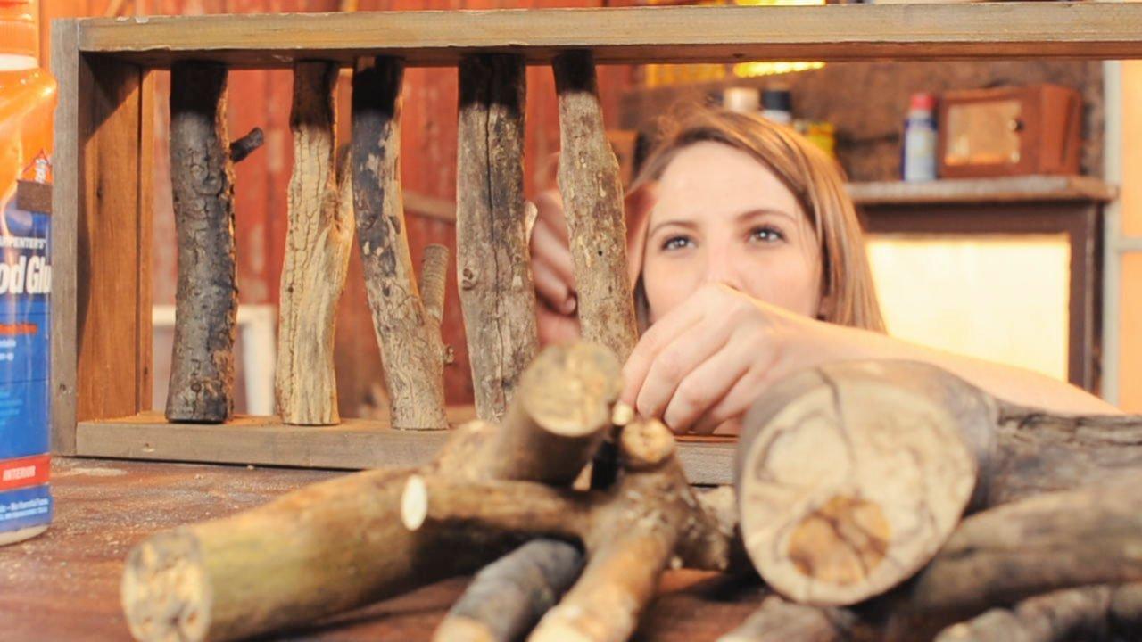 DIY: originální věšák z větviček