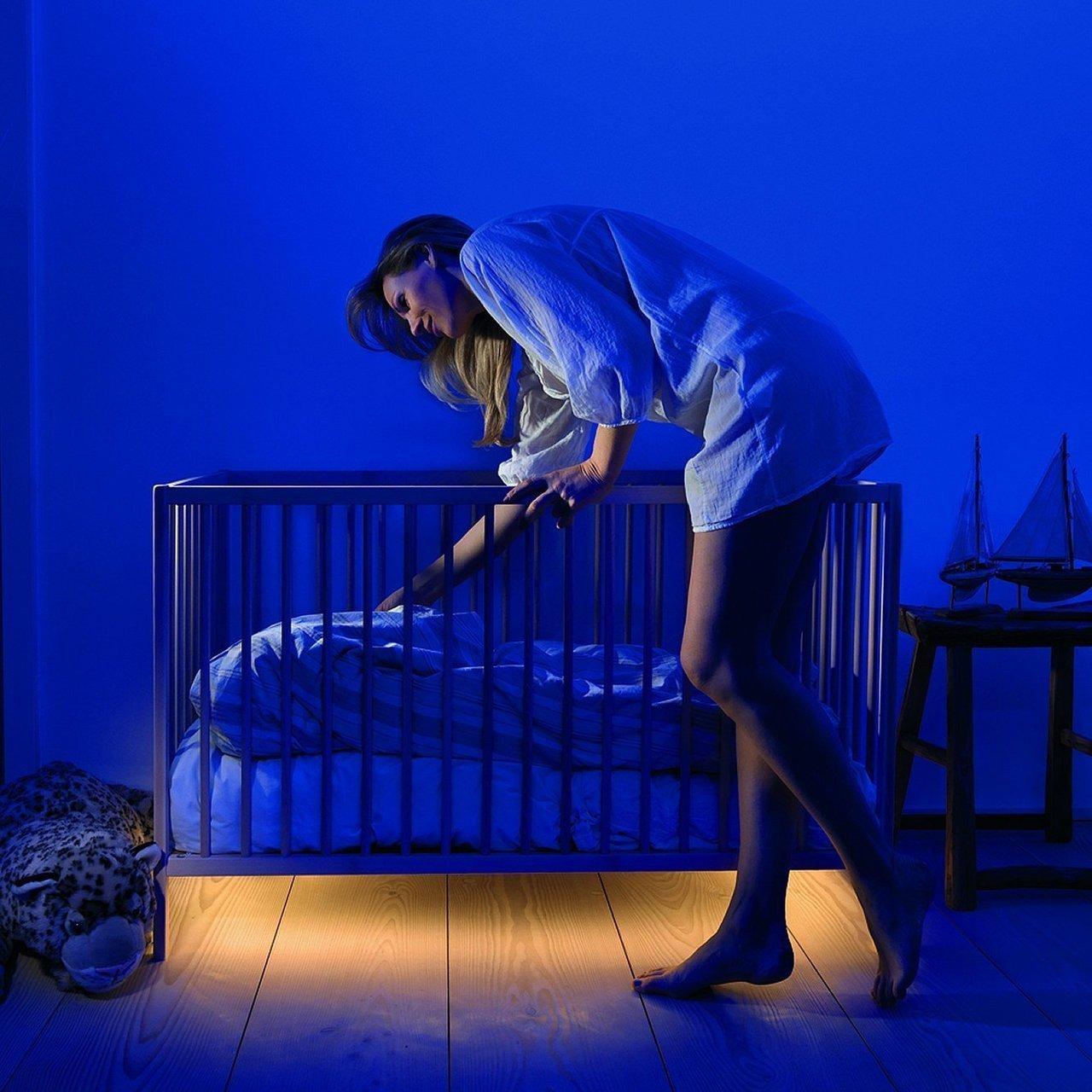 Nepřímé světlo je ideální pro osvětlení v noci.