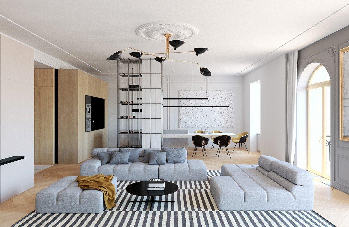 Je to vždycky škoda zakrýt tradiční prvky během renovace - ale půvab čerstvého moderního designu, je těžké projít nahoru. Tento příspěvek se dívá na dvě atraktivní interiéry, které zahrnují to nejlepší z obou světů díky zachování klasických architektonických detailů, zatímco zdobení se stylovým moderním nábytkem a osvětlovacích prvků. Tyto bar
