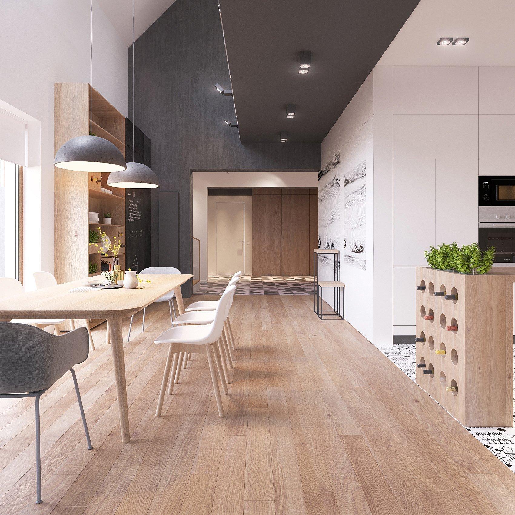 Jedním z nejmodernějších a nejoblíbenějších stylů interiréru je právě skandinávský design, a to zejména díky světlým otevřeným prostorům a praktickým vybavením, který je pro tento typ interiéru typický.   Ruské architektonické studio ZROBYM Architects se pustilo do realizace moderního interiéru domu s použitím téměř všech prvků typicky klasického skandinávského designu.