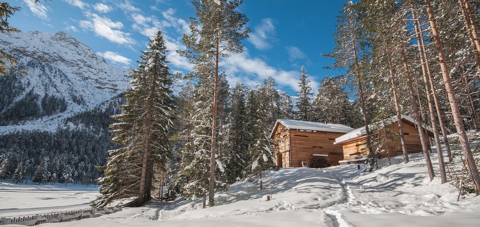 Útulná dřevěná chata téměř uprostřed divočiny