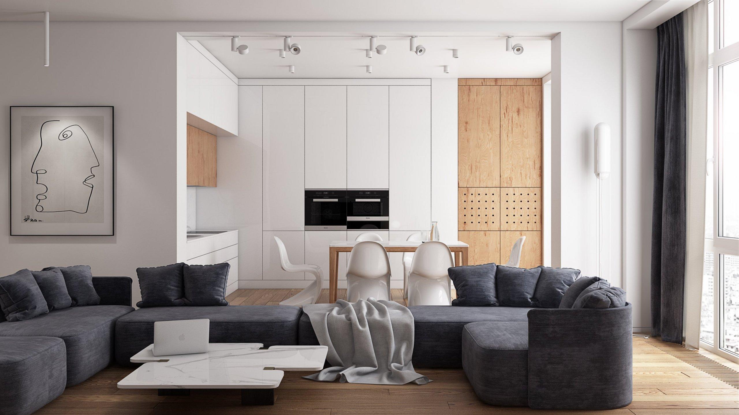 Moderní byty mohou mít mnoho podob. Dnešní doba je otevřena všem možným stylům a nezapomíná ani na jednoduchost. Jestli už jste přesyceni přílišnou zdobností a toužíte po čistém a funkčním designu, bude se vám určitě líbit tento projekt. Apartmán v čistých barvách, jednoduchých tvarech a s nadčasovým designem.