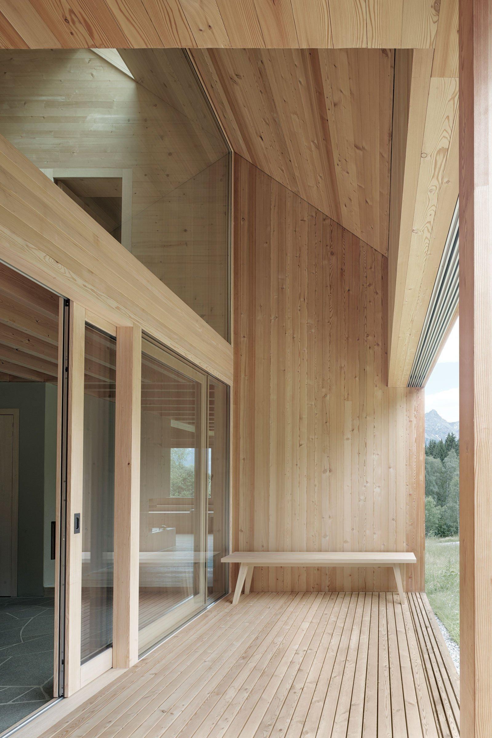 Dřevěný dům v Rakouských horách