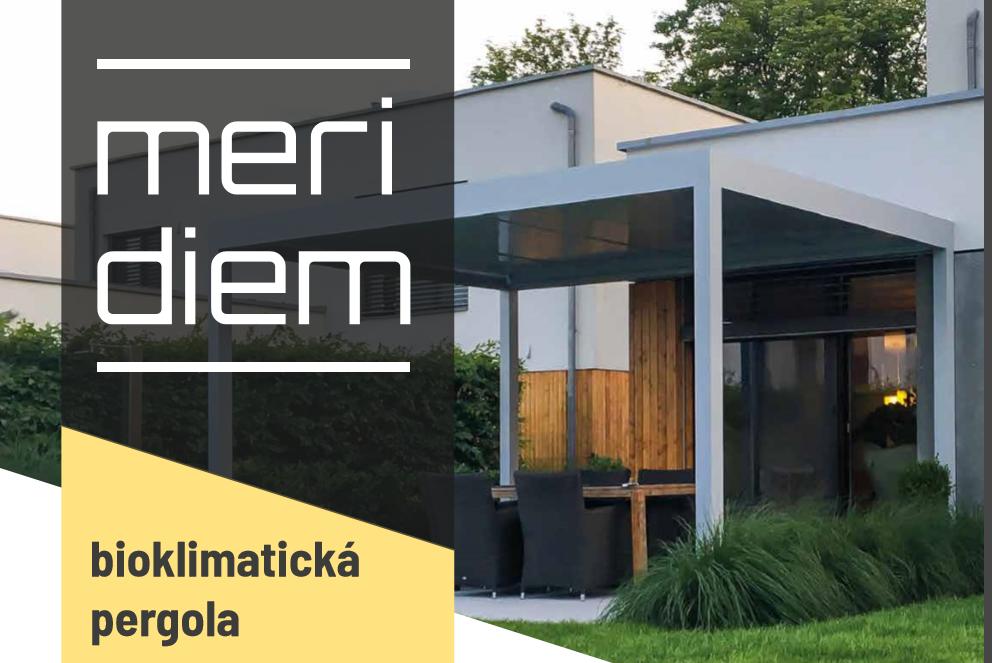 Přichází na scénu exkluzivní pergola Meridiem, která vděčí svému vzniku české společnosti Alutech Bohemia. Od konkurenčních výrobků se výrazně odlišuje svou dispozicí, nadčasovým designem, zpracováním a funkčností. Čím je tedy tak neobvyklá?