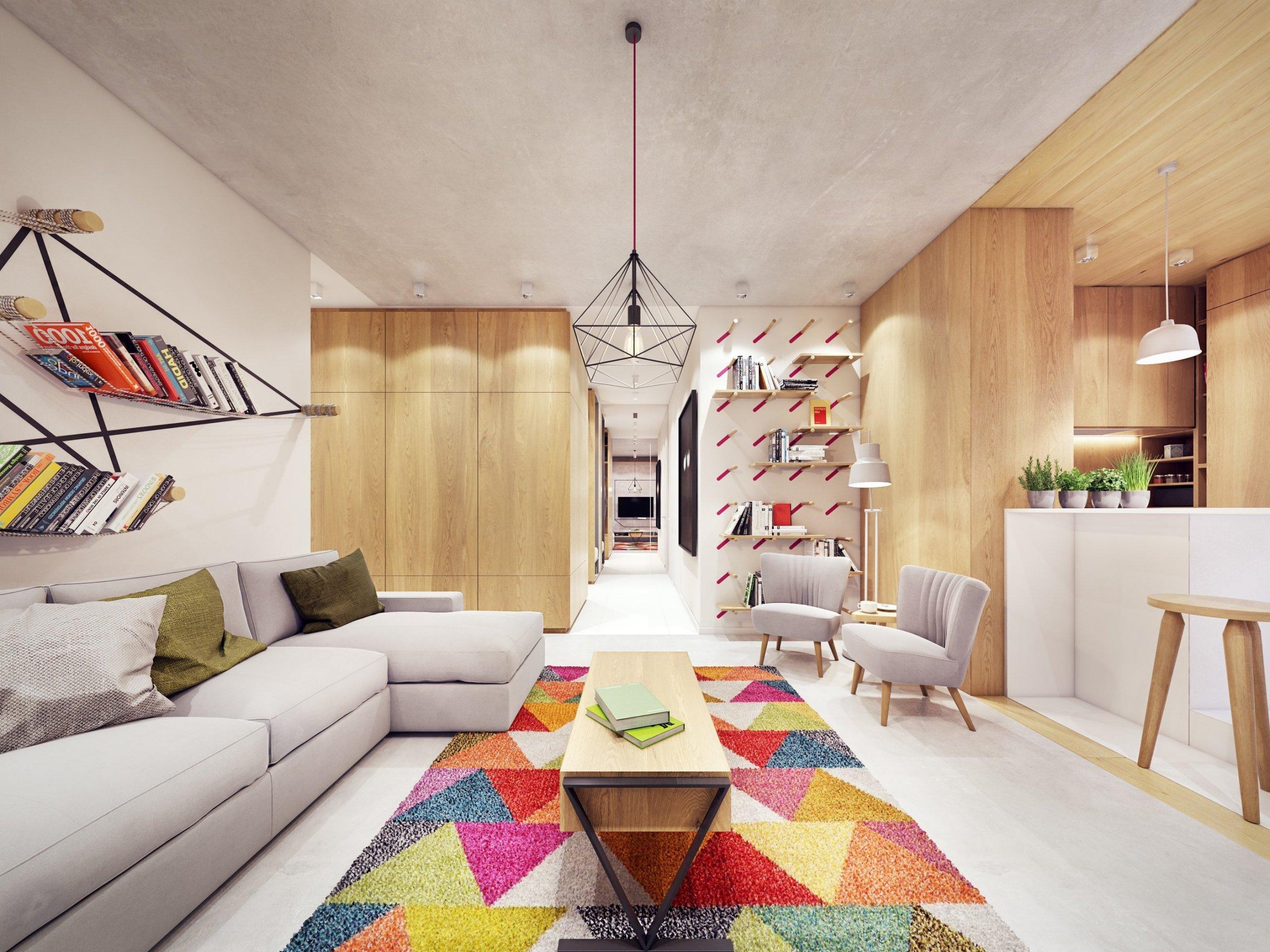 Komfortní bydlení s barevnými akcenty