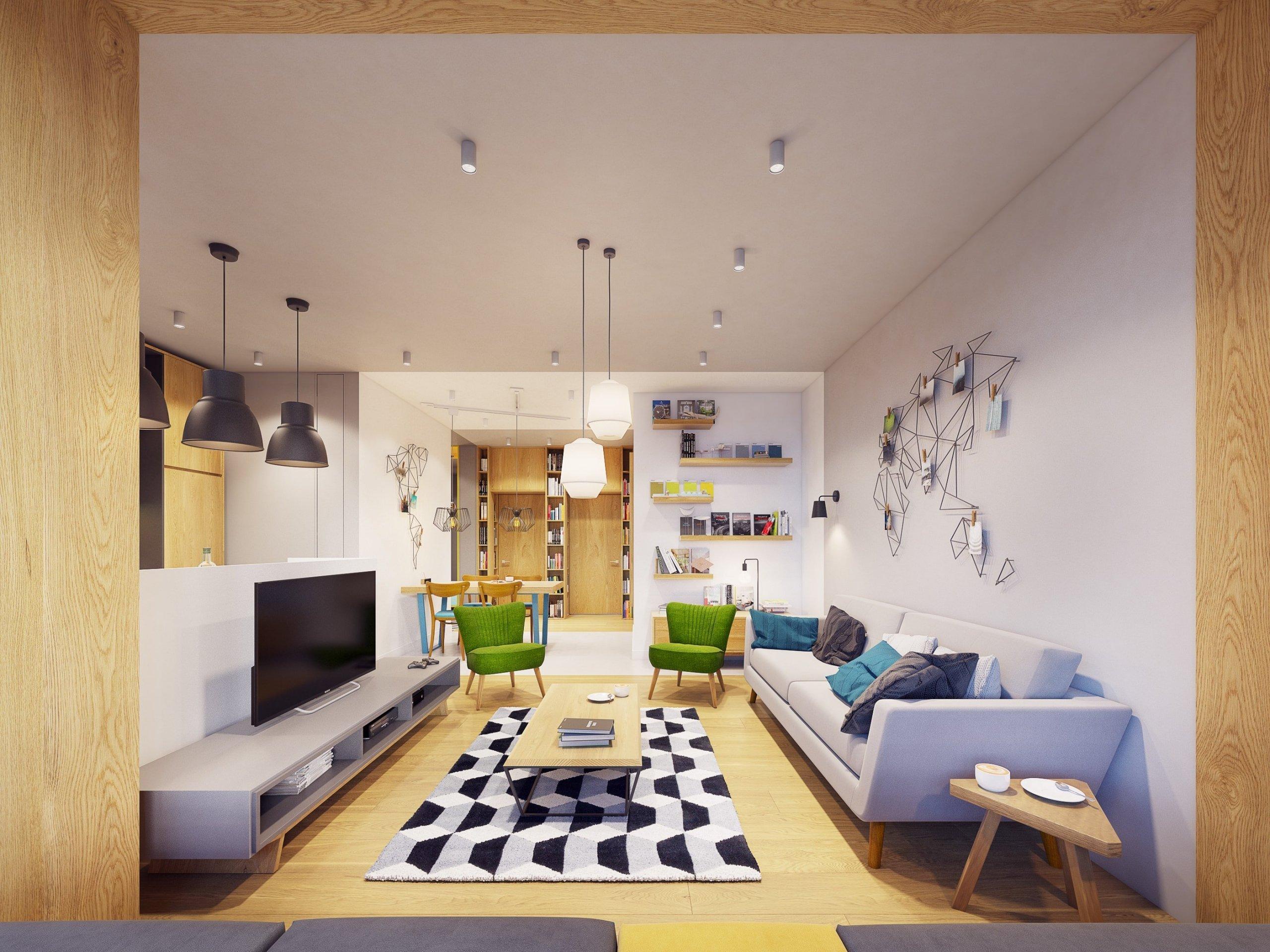 Život, energie a vitalita. Přesně takto na nás působí tento moderní interiér z rukou Zarysy. Rozsáhlé barevné schéma inspirované rozmanitostí přírody, geometrické tvary, ale i jedinečné dekorace na stěnách tvoří kouzlo tohoto 52 metrů čtverečních velkého bytu ve Varšavě.