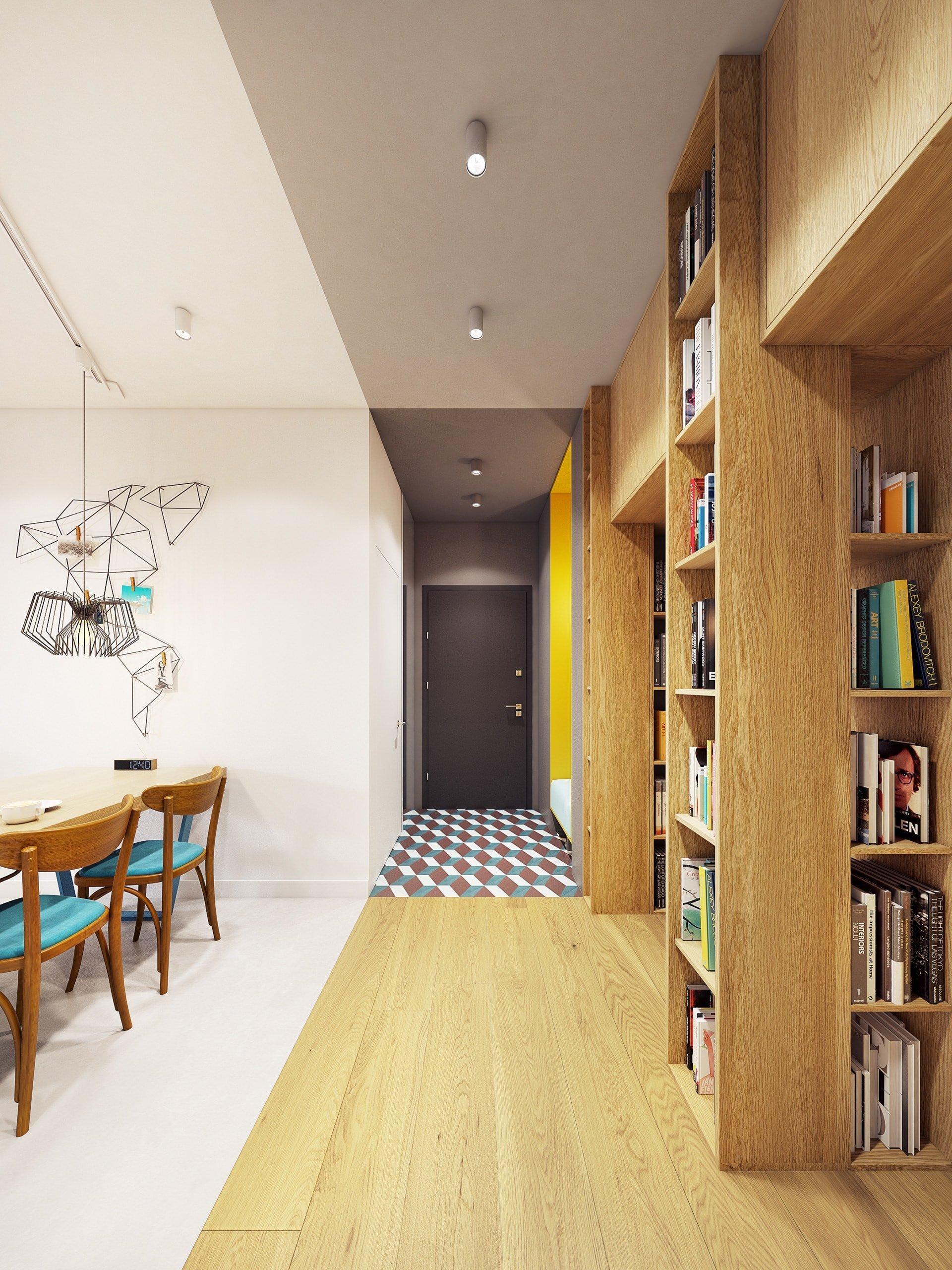 Funky moderní interiér s přírodními akcenty