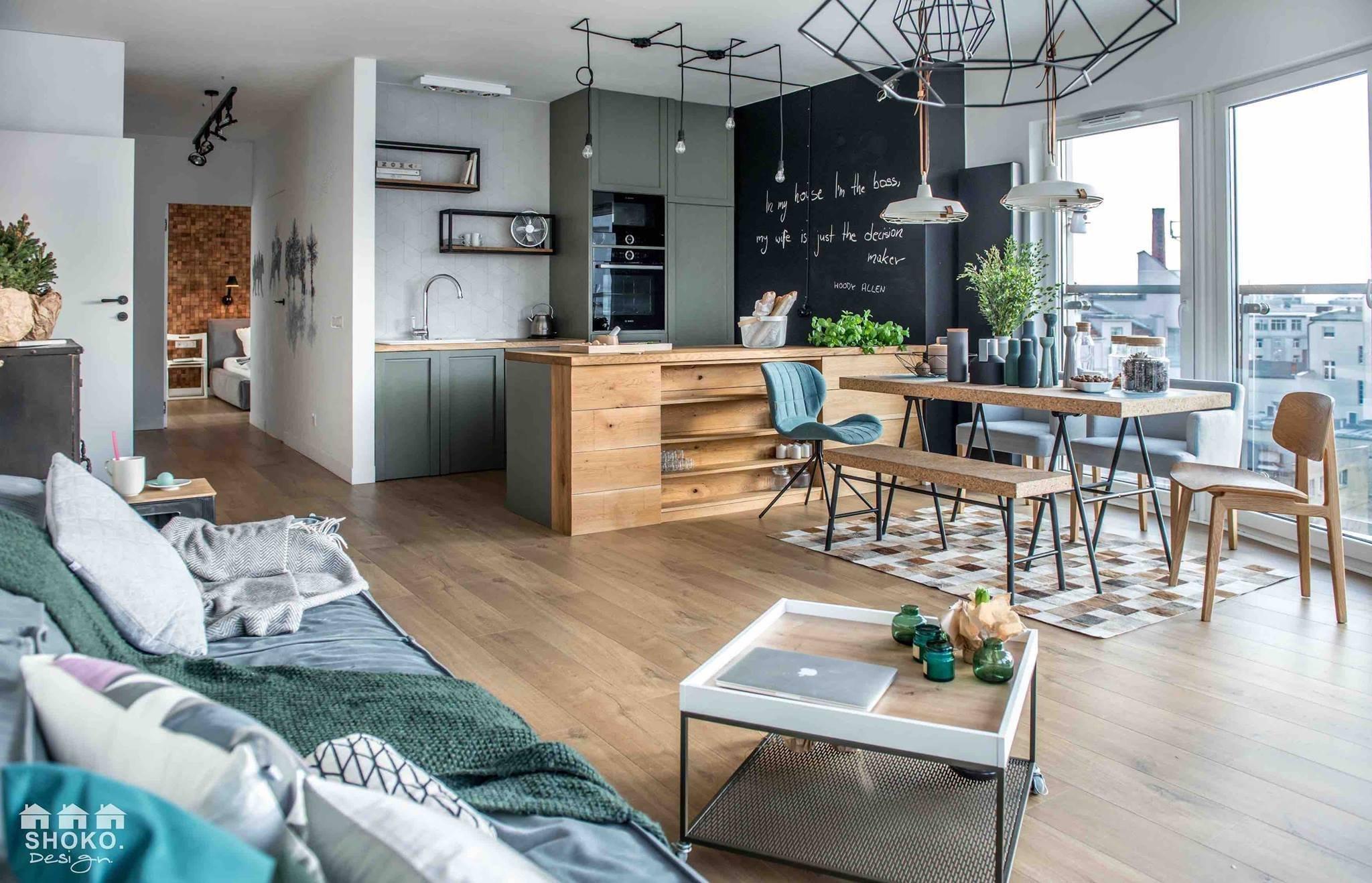Byt ve skandinávském stylu  s panoramatickými okny