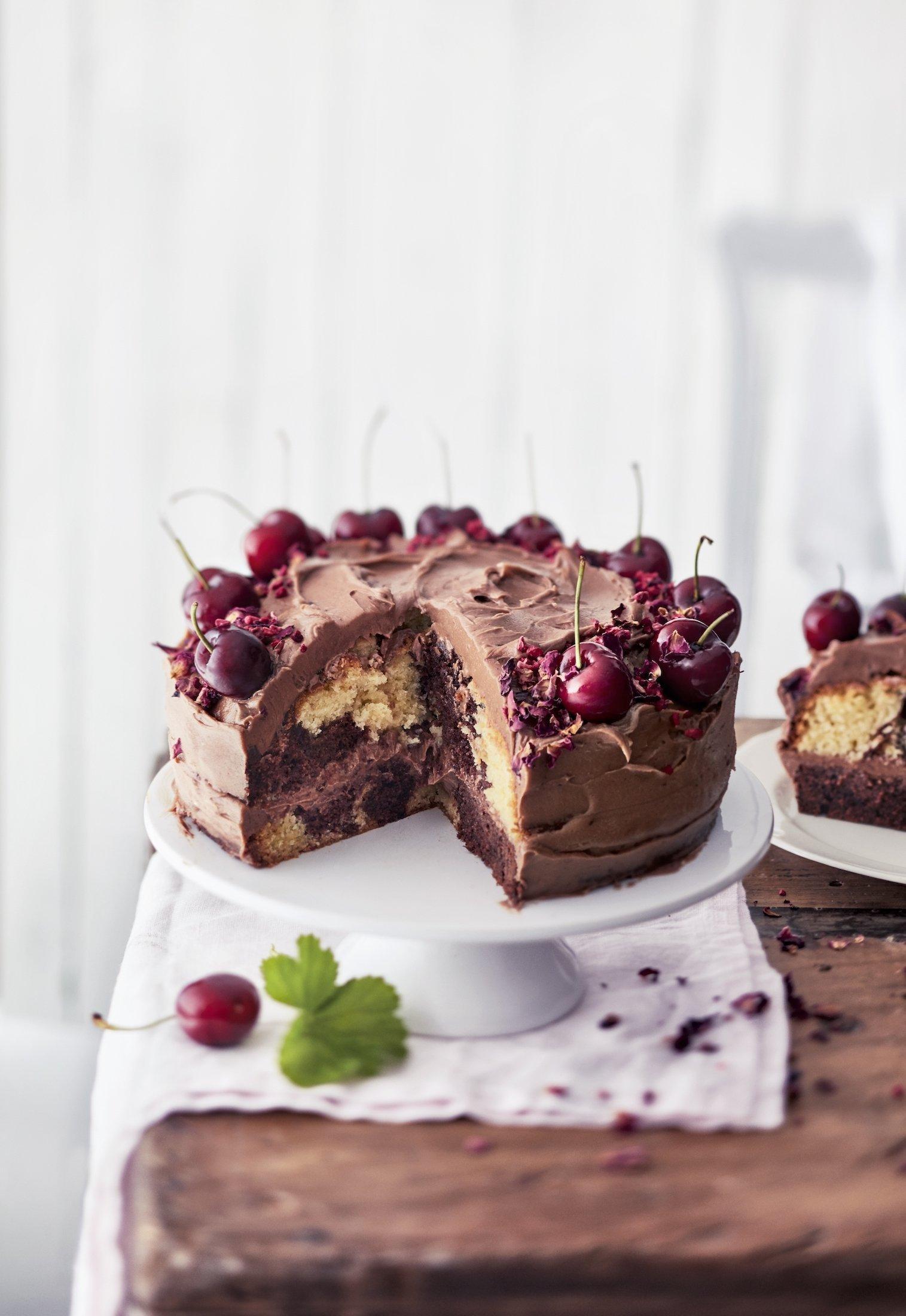 Tygří dort s čokoládou