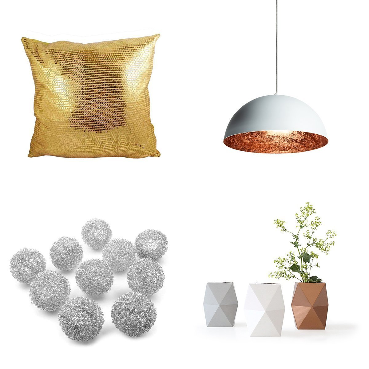 Zlato, stříbro, bronz – to je to, oč tu běží! Tyto barvy se v našich interiérech objevují poskrovnu, většinou je najdeme na doplňcích, úchytkách, zrcadlových rámech, atd. Ale to neznamená, že si nezaslouží naši pozornost! Našemu bydlení mohou totiž dodat to pravé kouzlo.