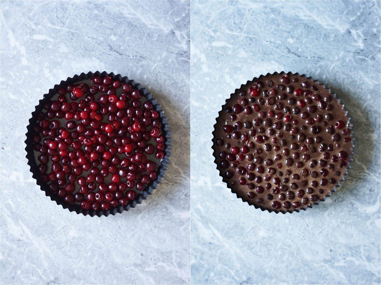 Kakaový clafoutis s višněmi