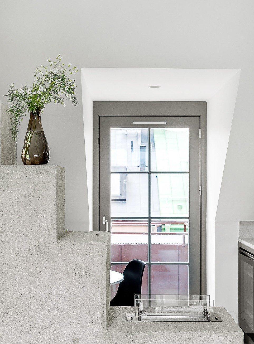 Moderní podkrovní byt ve Stockholmu
