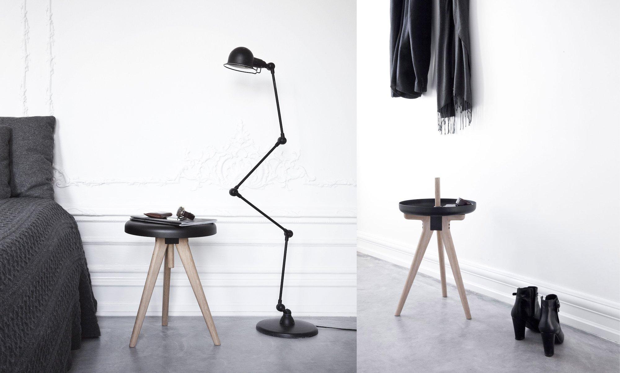 Jednou odkládací stolek, podruhé stolička - Flip Around od značky Menu