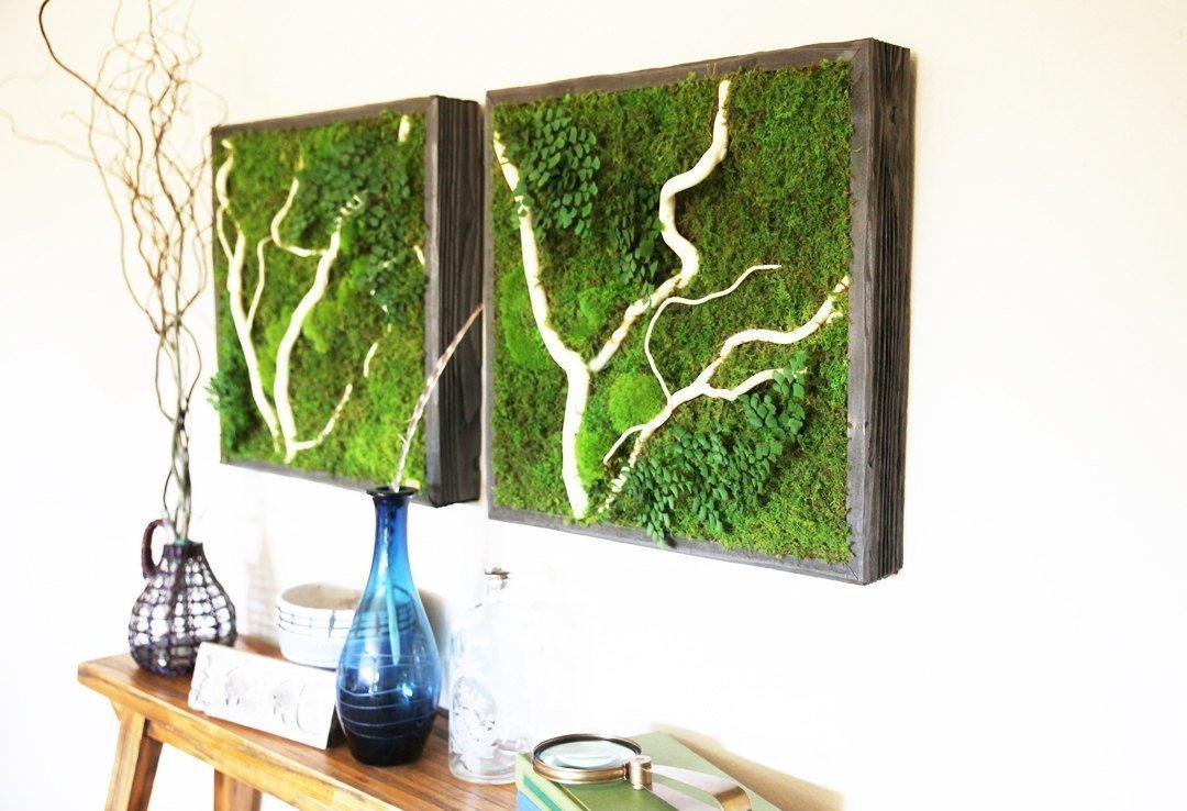 Mechové stěny a obrazy z mumifikovaného mechu jsou velkým trendem poslední doby. Jde o dokonalé interiérové dekorace, jež nevyžadují skoro žádnou údržbu a péči (možná kromě očištění od prachu). A nezáleží na tom, zda bude mech zdobit váš domov, kancelář nebo jiný prostor.