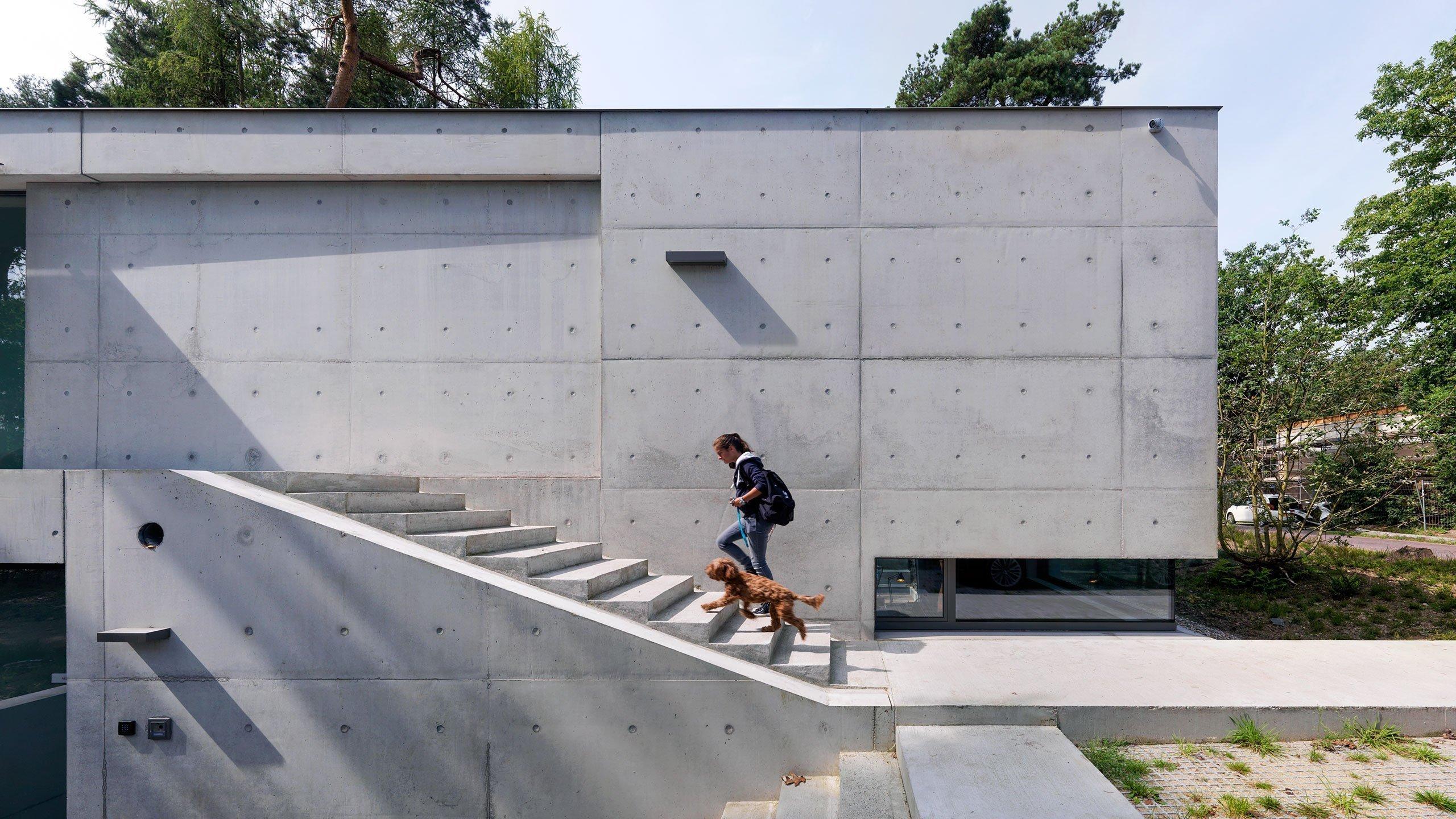 Vila uvnitř i venku v čistém betonu