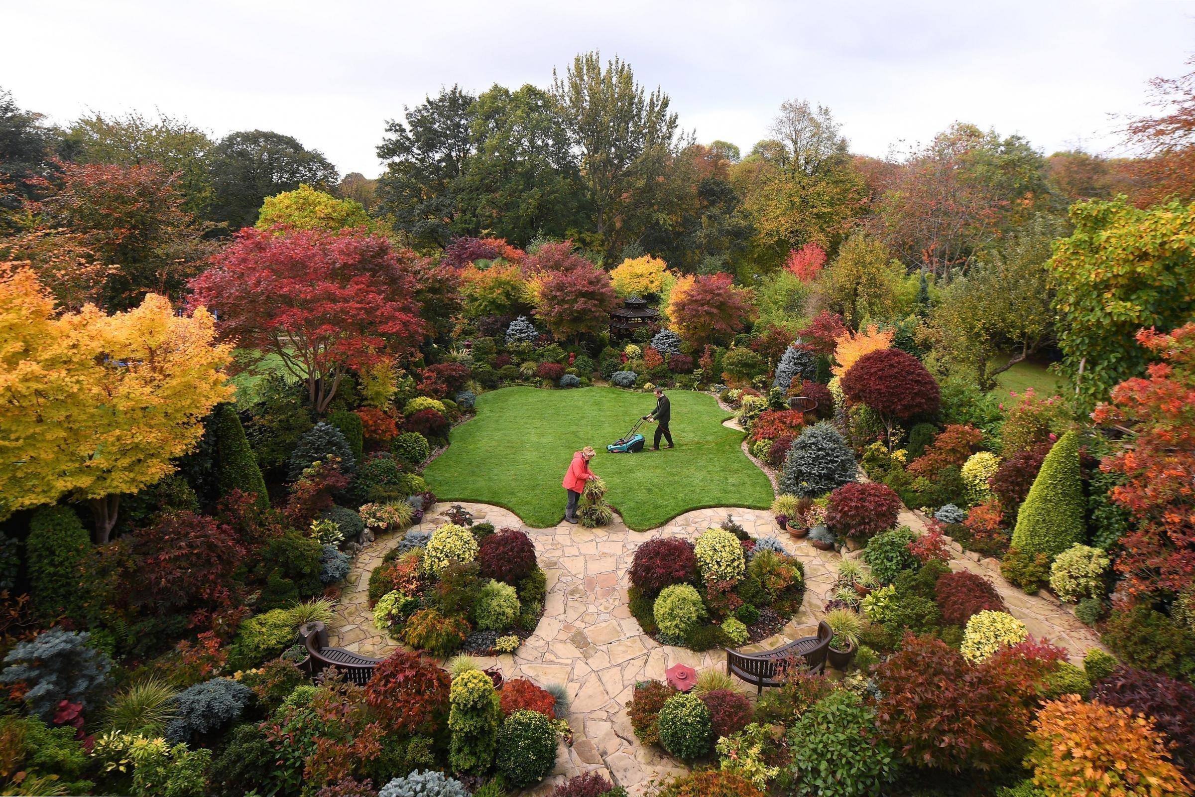 Zahrada Four Seasons, která se nachází v anglickém hrabství West Midlands a získala již řadu národních ocenění, patří manželům Tonymu a Marii Newtonovým a ti ji začali budovat v roce 1982. Od té doby se jejich zahrada značně proslavila a díky jejich nezměrné péči je krásná v každou roční dobu a na podzim navíc hraje všemi barvami.