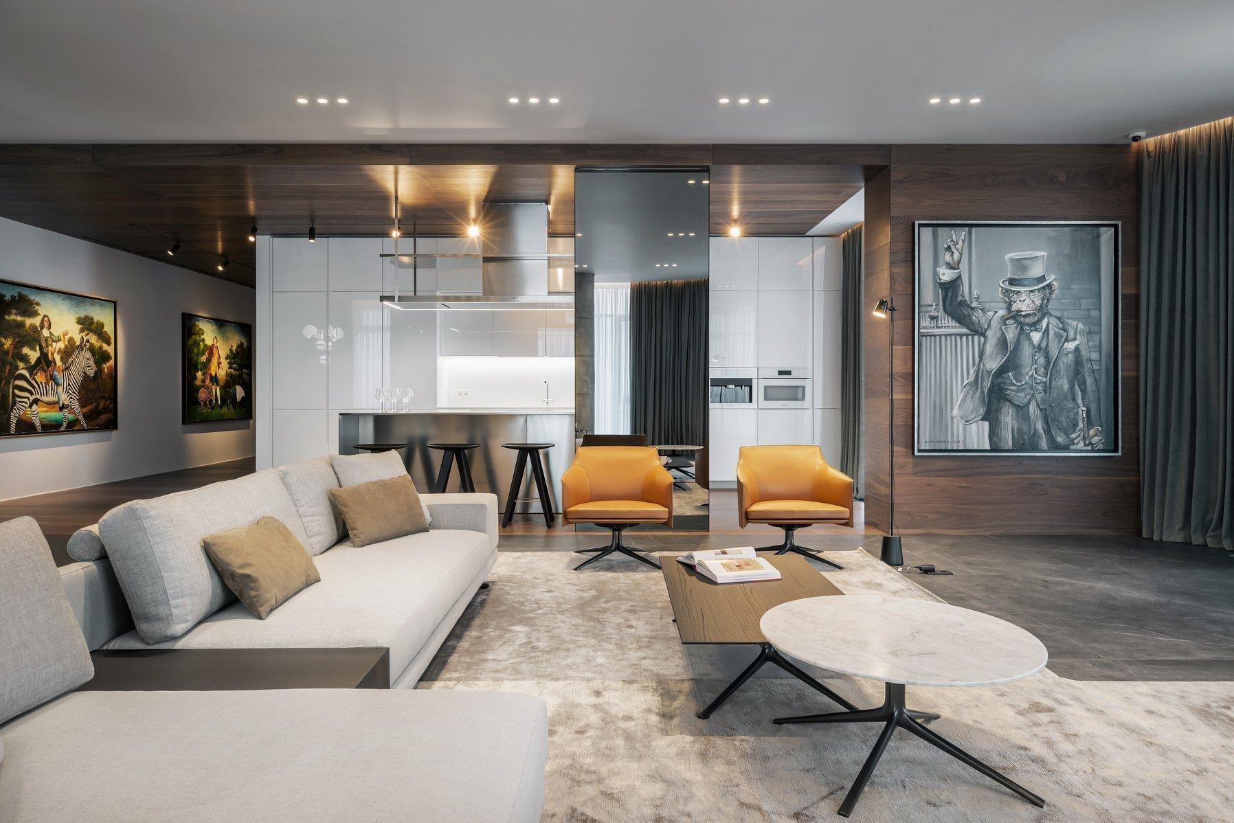 Díky fantazii a vkusu architektů ze studia YoDezeen se vám dnes naskytne pohled do moderně zařízeného bytu s dramatickým efektem. Styl fandící umění, otevřenému prostoru a kontrastu barev dodává tomuto bytu v Kyjevě neskutečné charisma. Bydlet tady musí být umění!