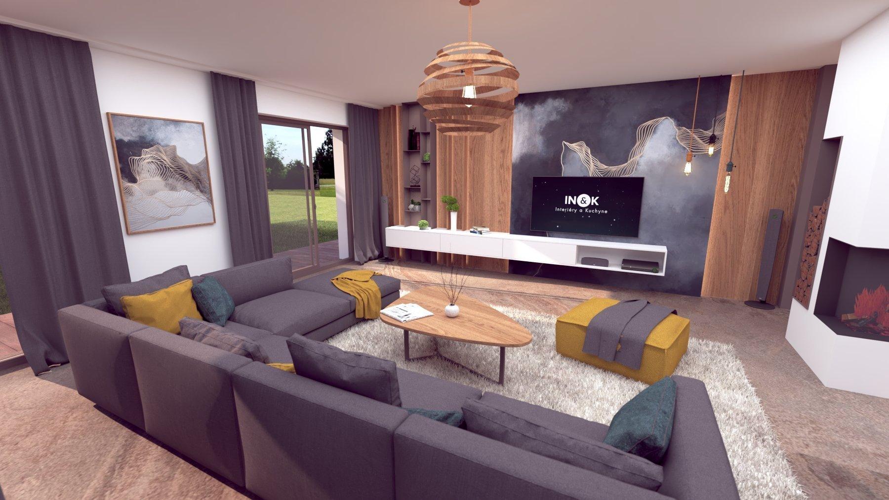 Pôvabný interiér s jemných nádychom luxusu, plný nápaditých detailov. Výrazné prepojenie prírodných materiálov s modernými tecnológiami.