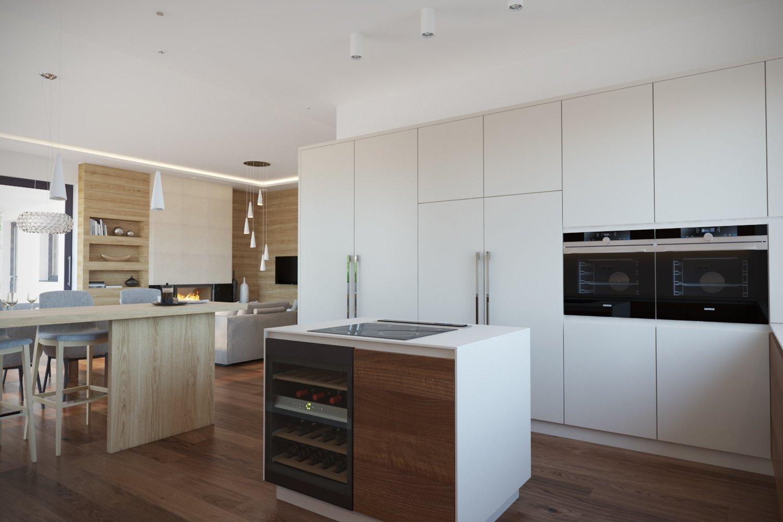 Návrh a vizualizácie luxusného bytu v Prahe. V prvej časťi projektu som vypracoval návrh a vizualizácie obývacej izby spojenej s jedálňou a kuchyňou. V druhej…