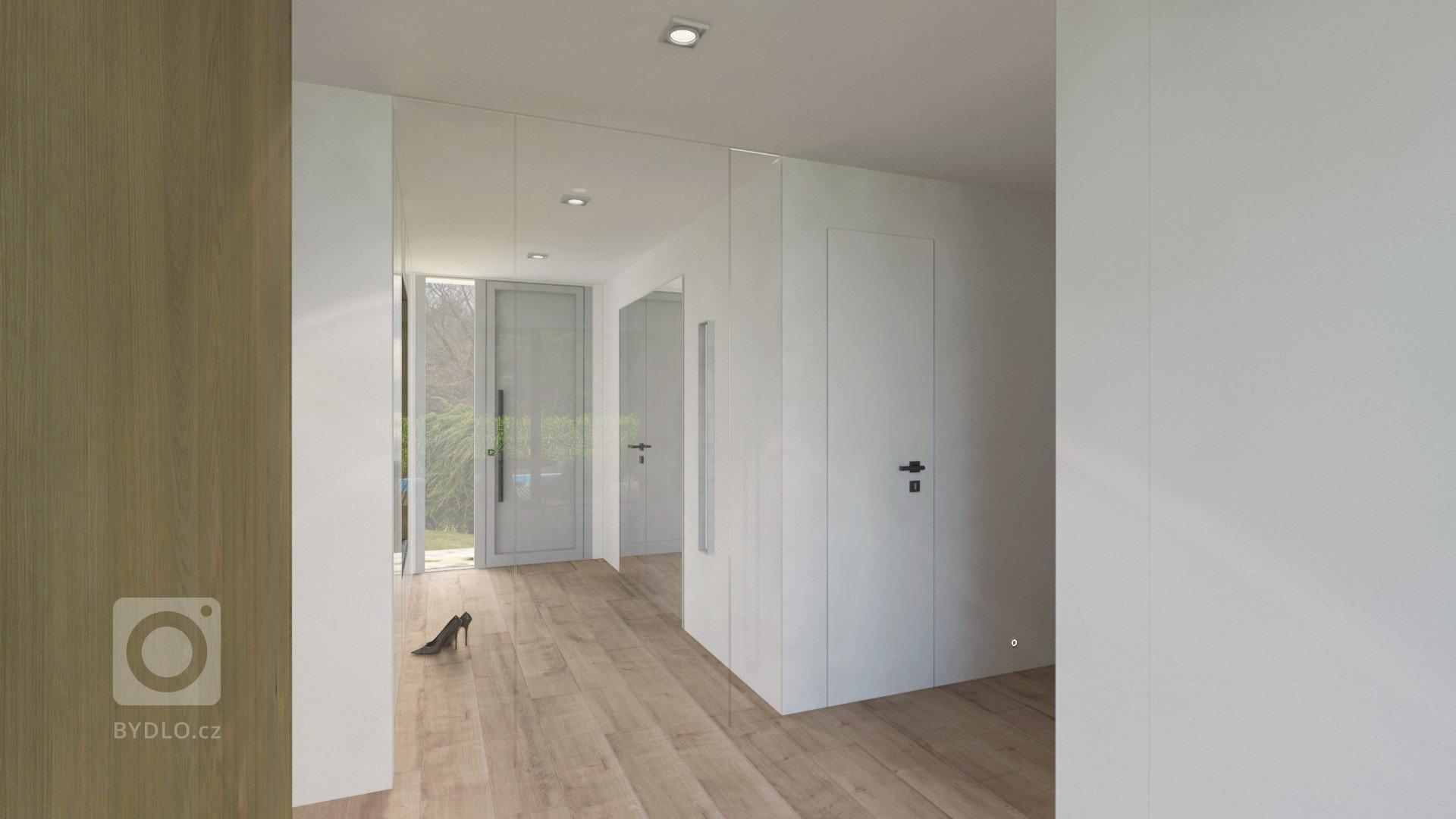 Veľkorysý priestor spoločenskej časti nám dovolil vytvoriť priestrannú kuchyňu s dizajnovým ostrovom, ktorým je čiastočne oddelená od obývacej časti. Biela na…