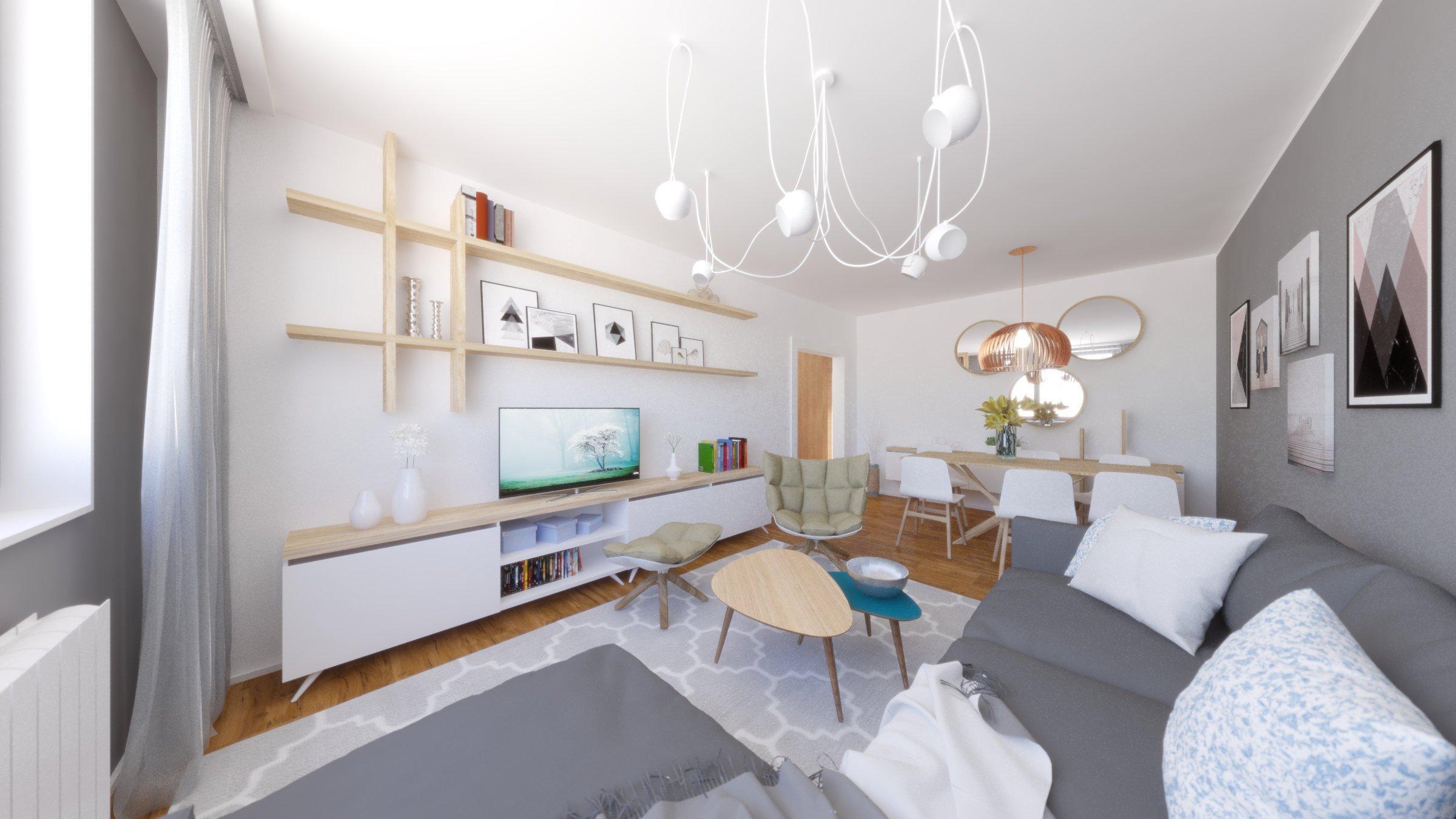 Starší byt v paneláku, bez možnosti búrania priečok, nemusí byť dôvod na sťahovanie sa. Nadchnite sa z priestoru vďaka správnemu uhlu pohľadu.