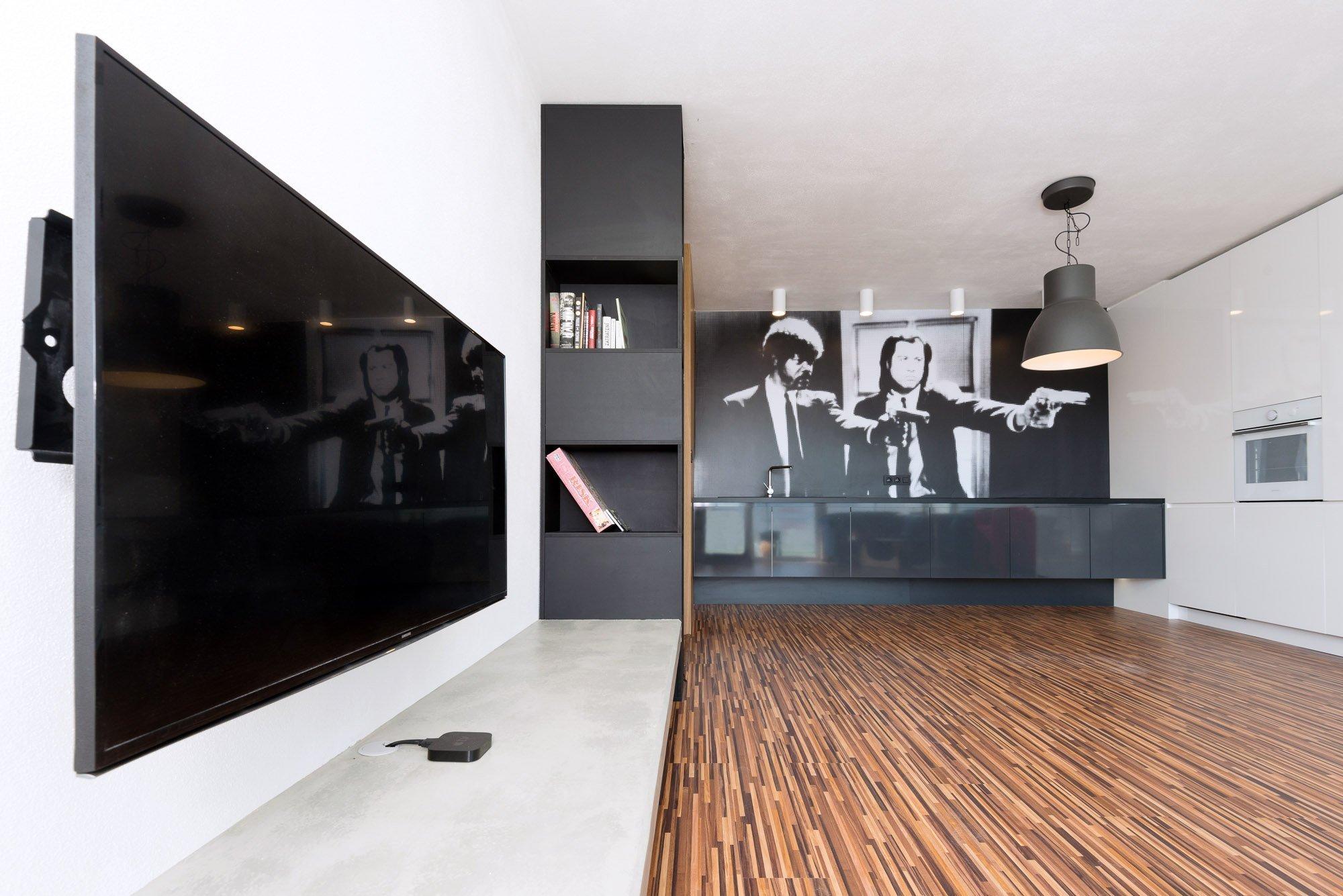 Krásny aštýlový byt vnovostavbe, ktorý zodpovedá povahe majiteľa a aktuálnym trendom v interiéri. Využitá nápaditosť vštýle filmového ducha …