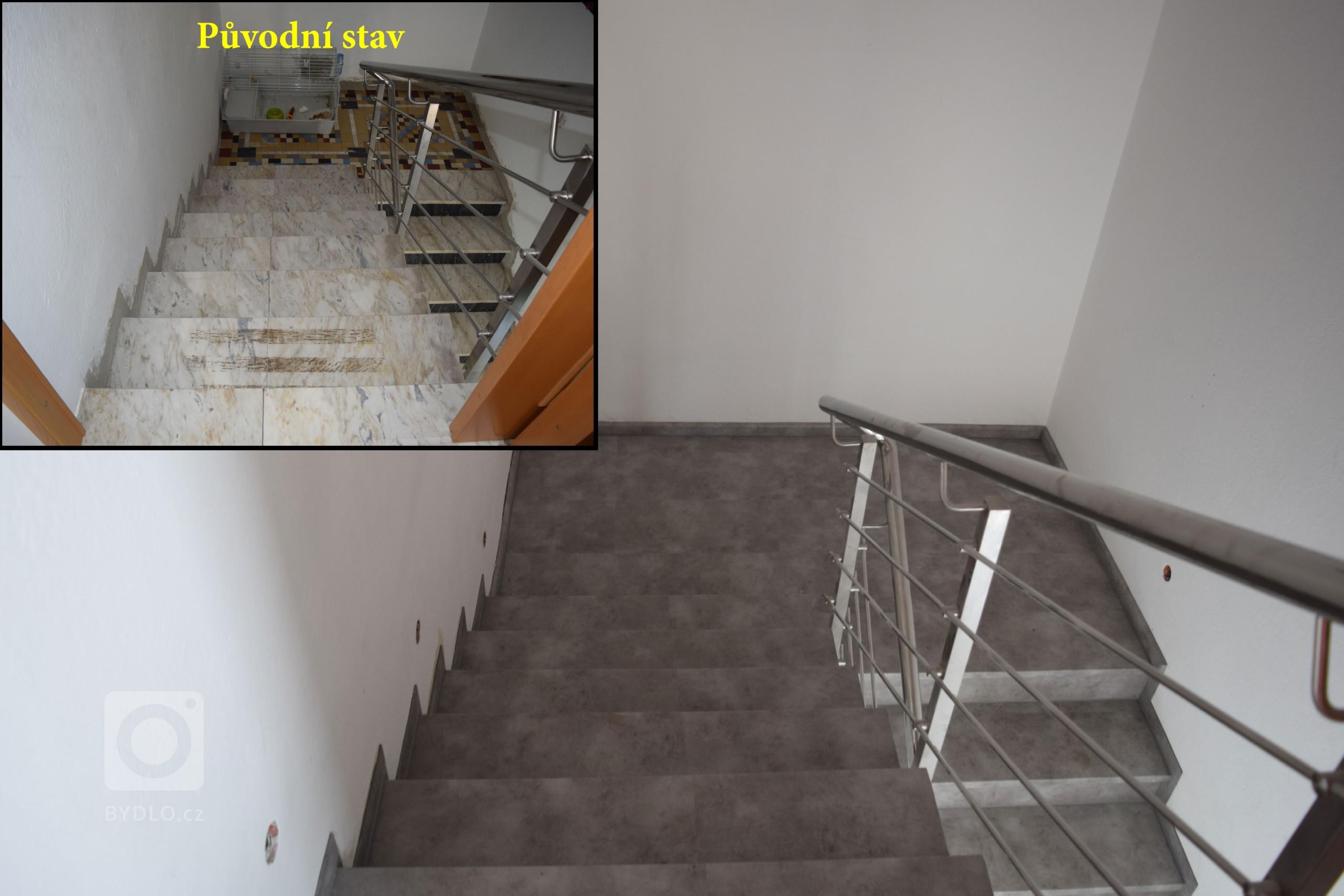 Renovace mramorového schodiště s použitím vinylové podlahy