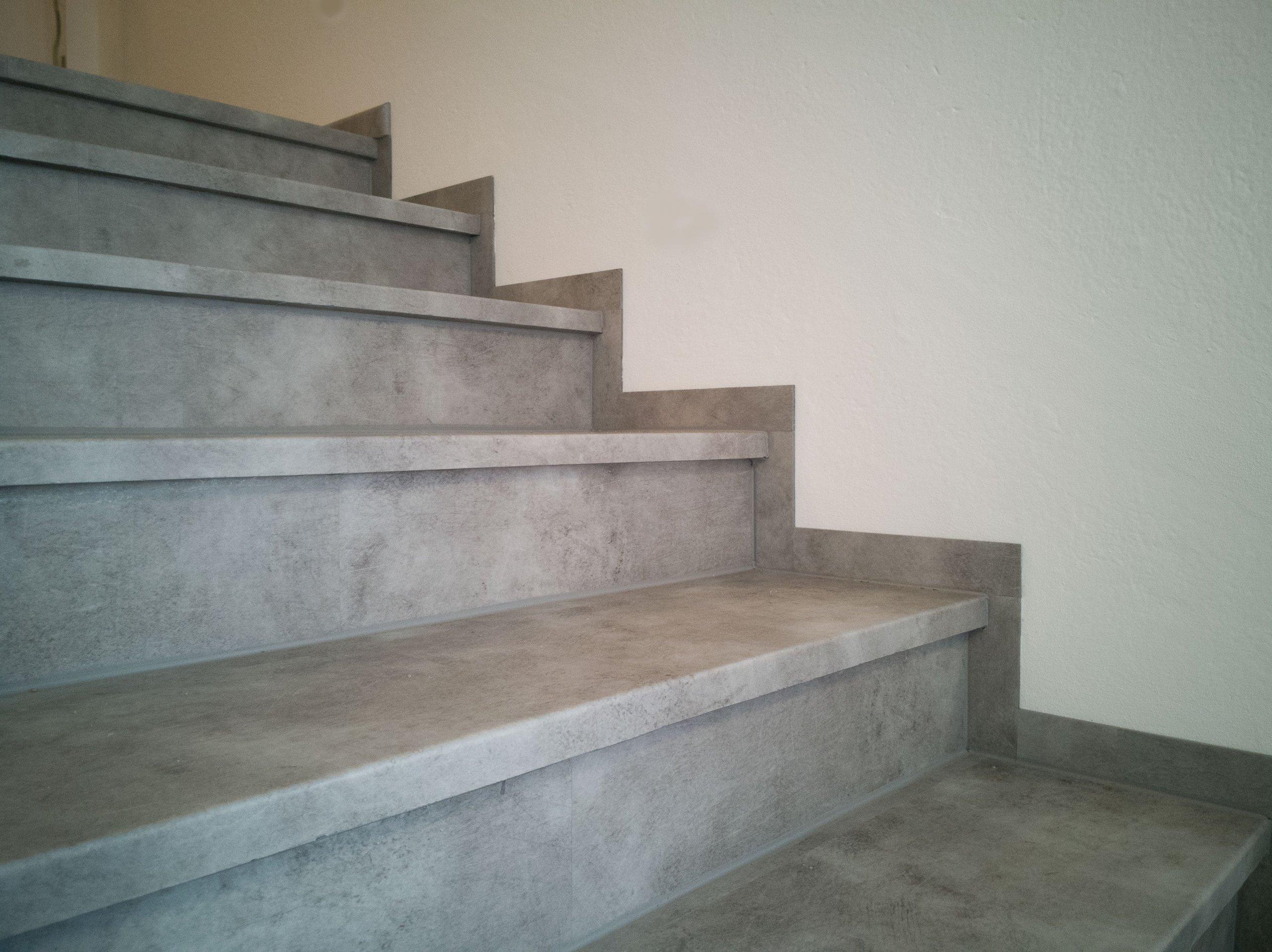 Finální stav schodiště po renovaci - detail