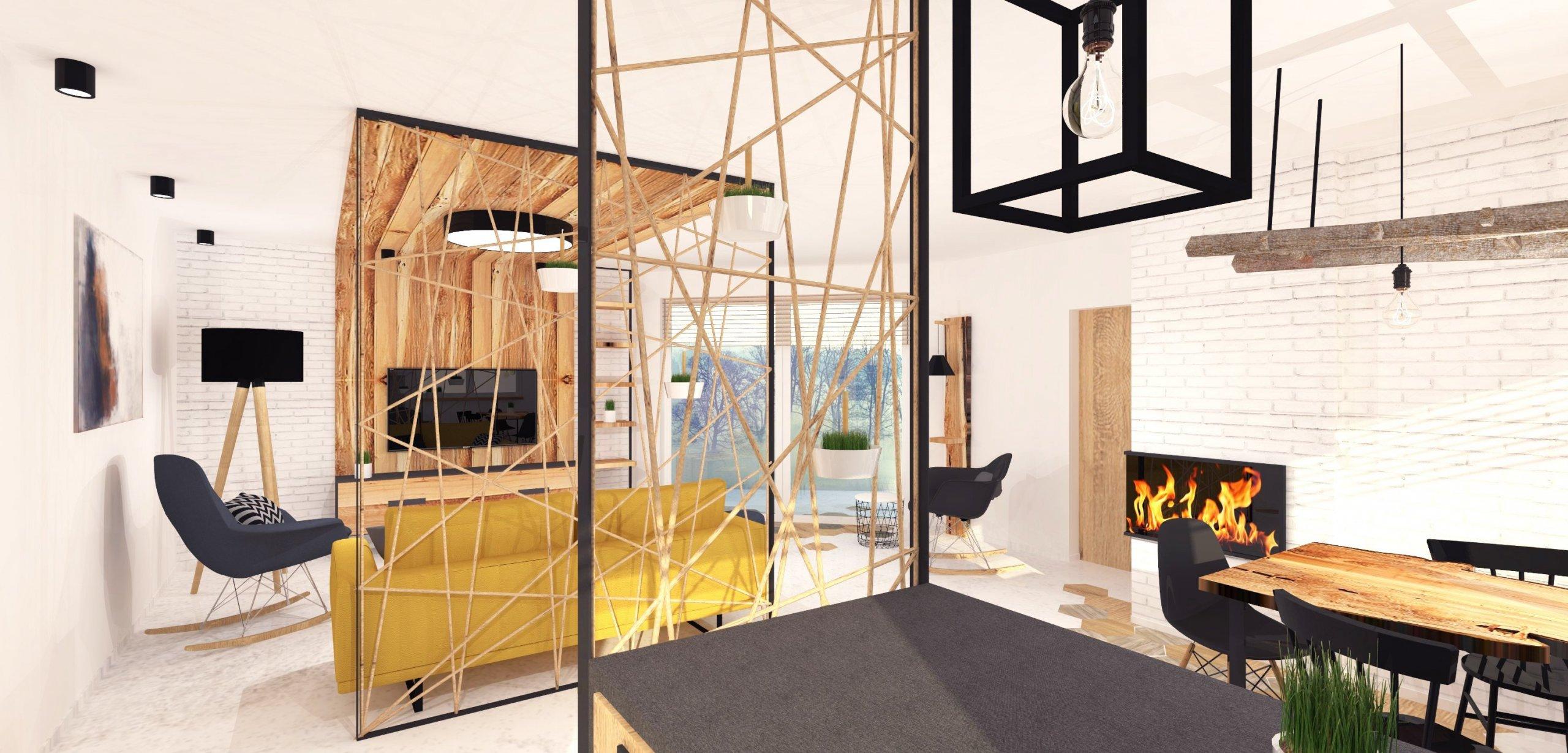 """""""Rustikální dům v Nové Vsi u Chrastavy.""""  Světlé tóny, doplněné výraznými černými konstrukcemi z kovu, které jsou podpořeny detaily s výraznou…"""