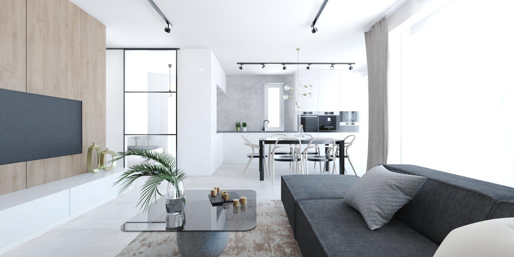 RD v Bratislave Minimalistický koncept interiéru a kontrastné materiály sú spoločným menovateľom pre tento priestor domu.