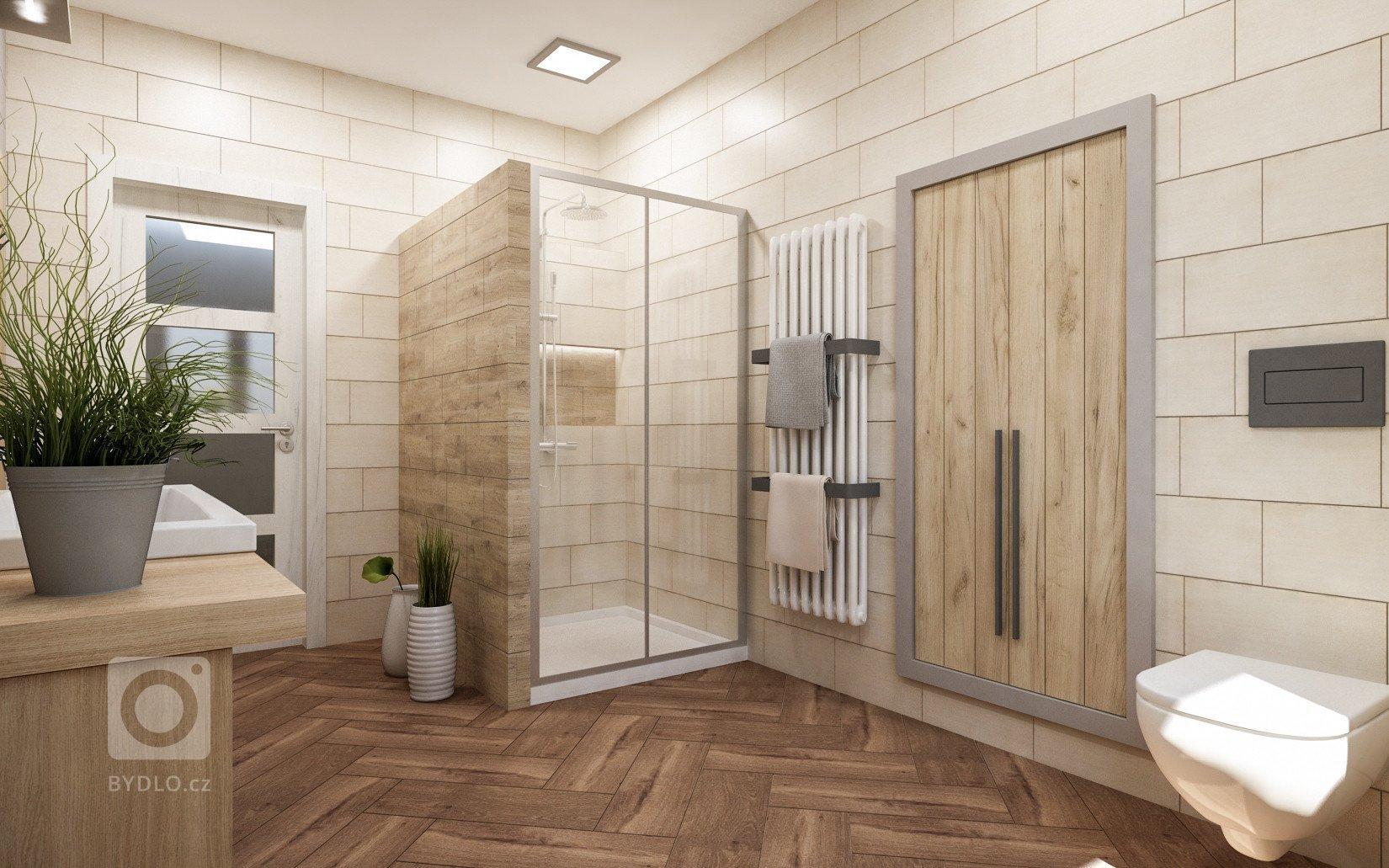 Koupelna se nachází v podkroví rekonstruovaného domu. Celé podkroví má asi 90m2 a zahrnuje pokoje dvou dospívajíchdětí, chodbu a koupelnu. S klienty jsem…