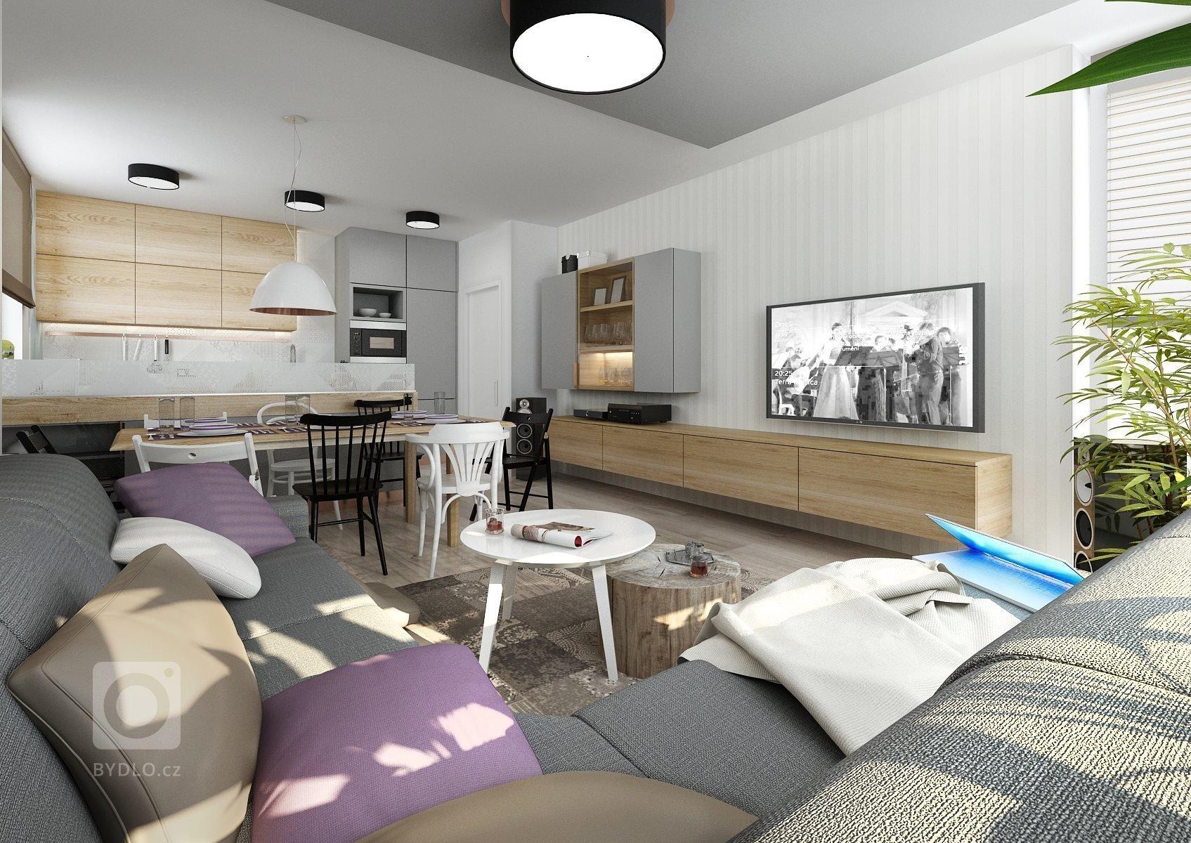 Zadání návrhu bytu od klientky znělo: moderní retro sindustriálními prvky. Tak jsme na nábytek použily barevně neutrální bílou a šedou LTD, se kterými se…