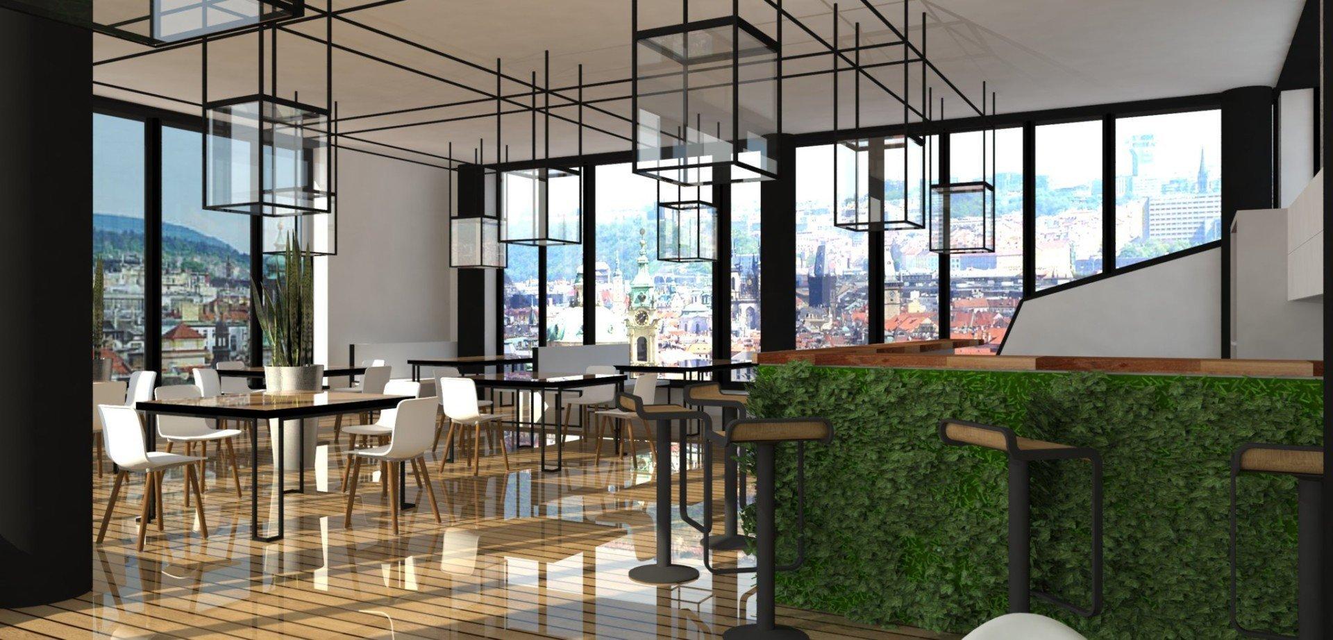 """""""Prostor plný geometrie.""""  Prostornost, kterou vyplňuje černobílá elegance v kontrastu surového betonu a dřeva s vysokým leskem.  &bdquo…"""