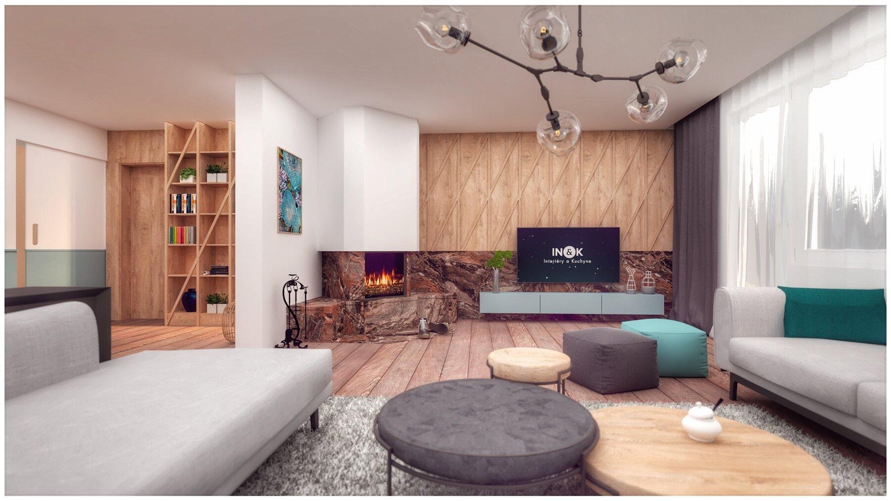 Keby sme chceli tento interiér popísať pár slovami, určite by sme si vybrali tieto: šikmé línie, prírodné materiály, pohoda a hravosť...