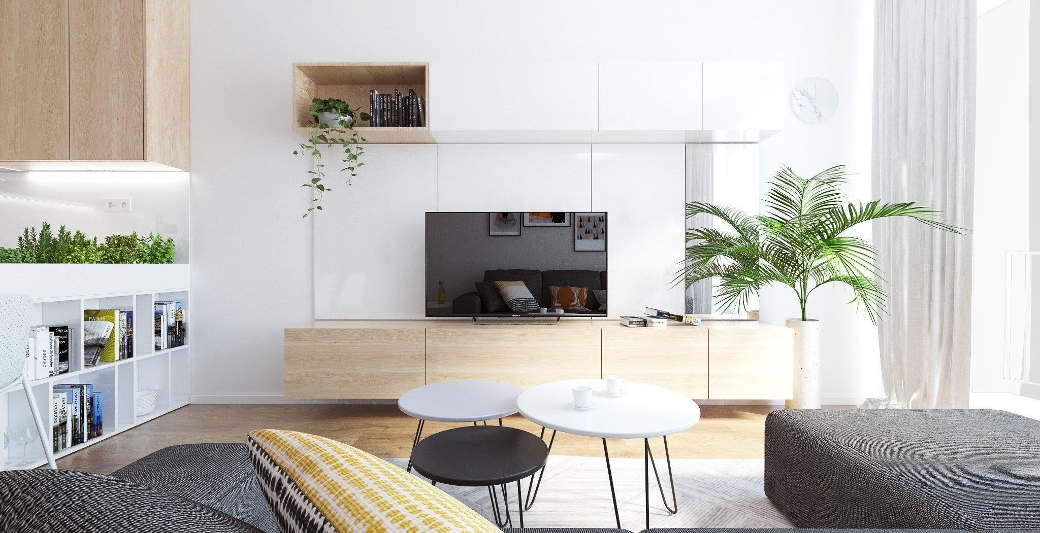 Denná zóna dvojizbového bytu v obľúbenom projekte Slnečnice bola navrhnutá nadčasovo. Kombinácia bielej a dreva je preferovaná najmä preto, že poskytuje…