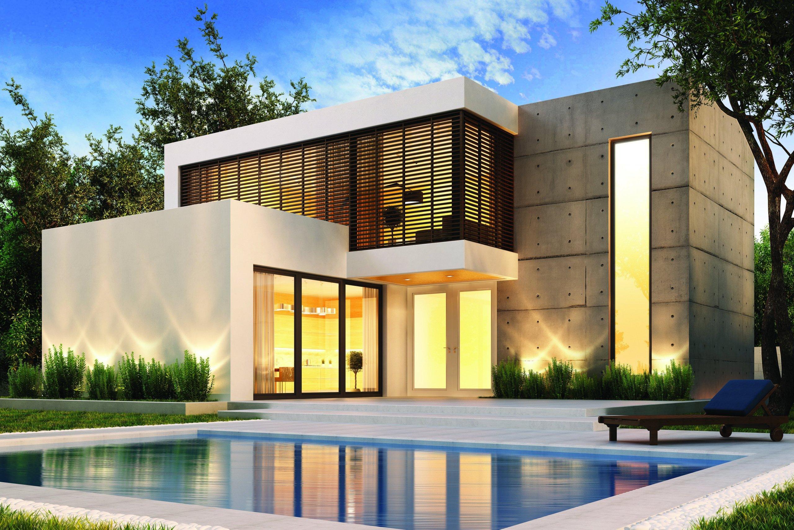 Rodinná vila v moderním stylu.